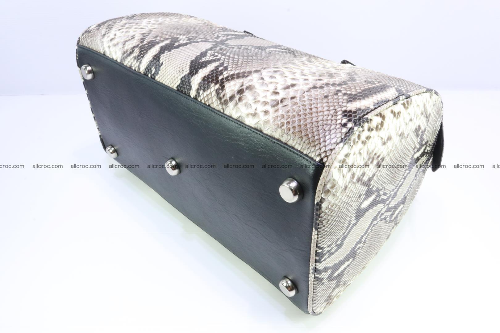 Ladies handbag, valise from genuine python skin 207 Foto 8