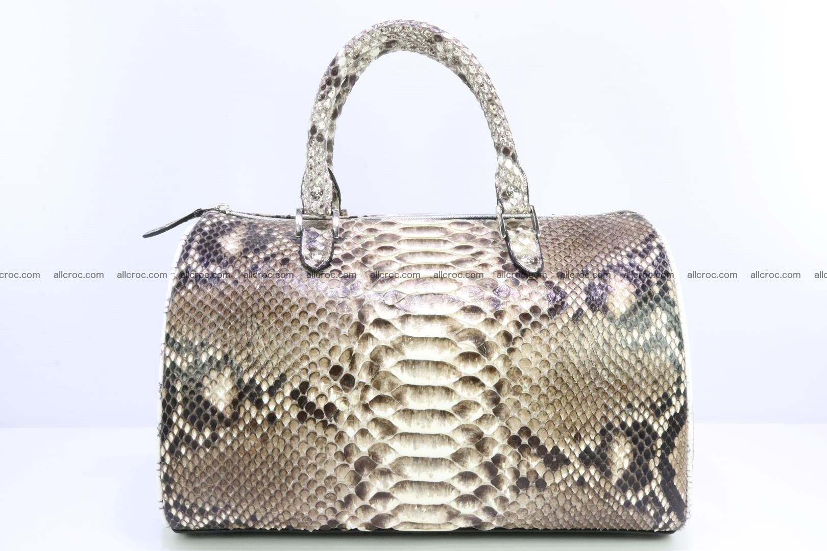 Ladies handbag, valise from genuine python skin 208 Foto 0