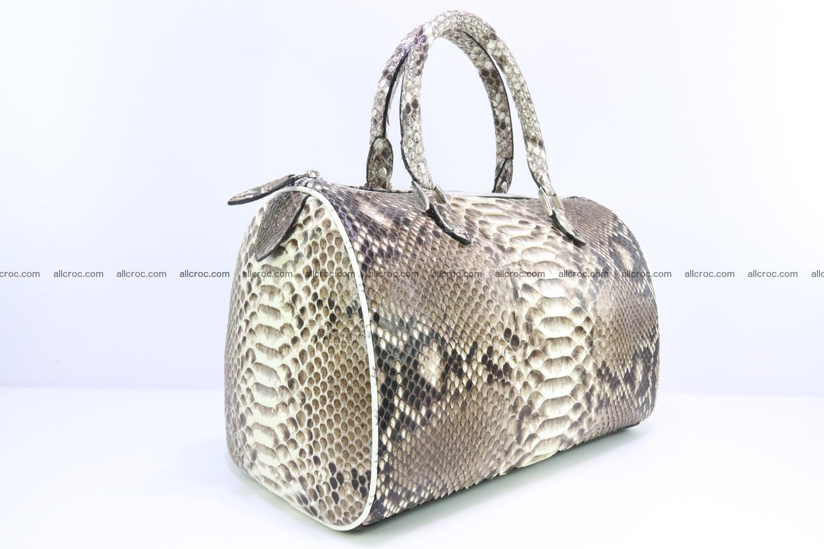 Ladies handbag, valise from genuine python skin 208 Foto 1