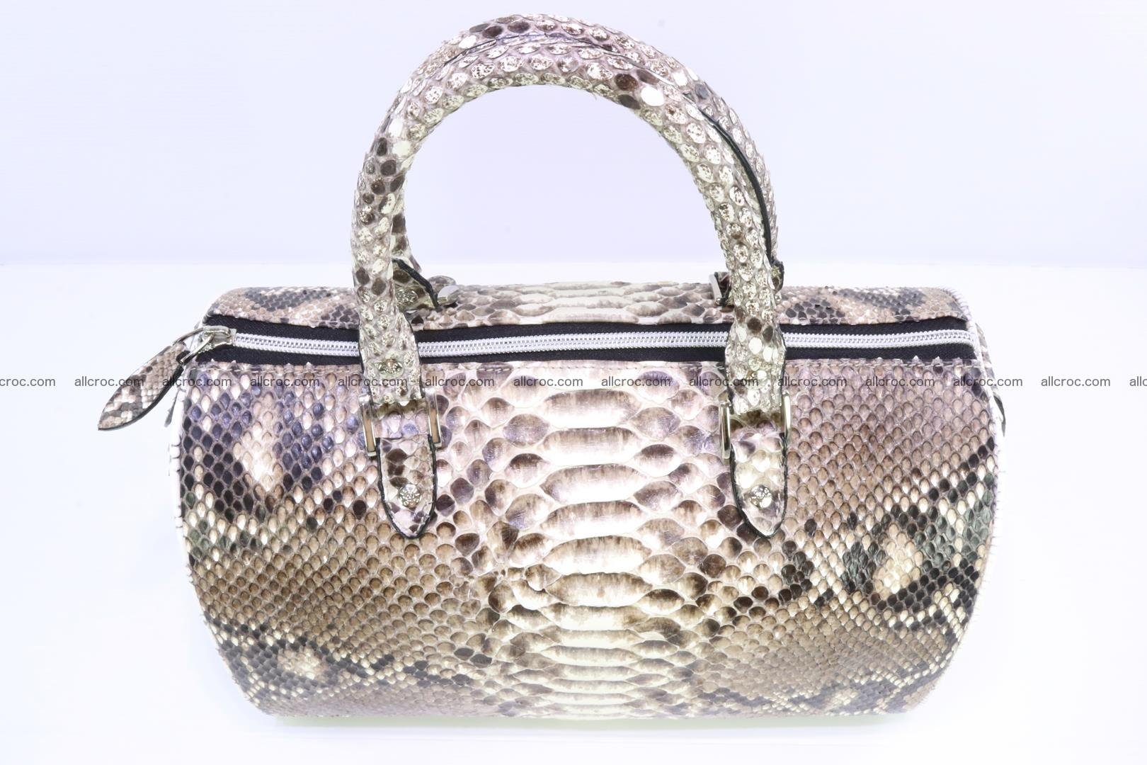 Ladies handbag, valise from genuine python skin 208 Foto 4