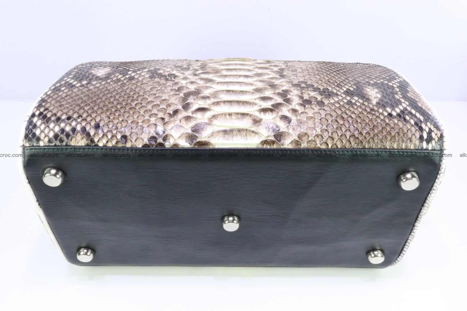 Ladies handbag, valise from genuine python skin 208 Foto 5