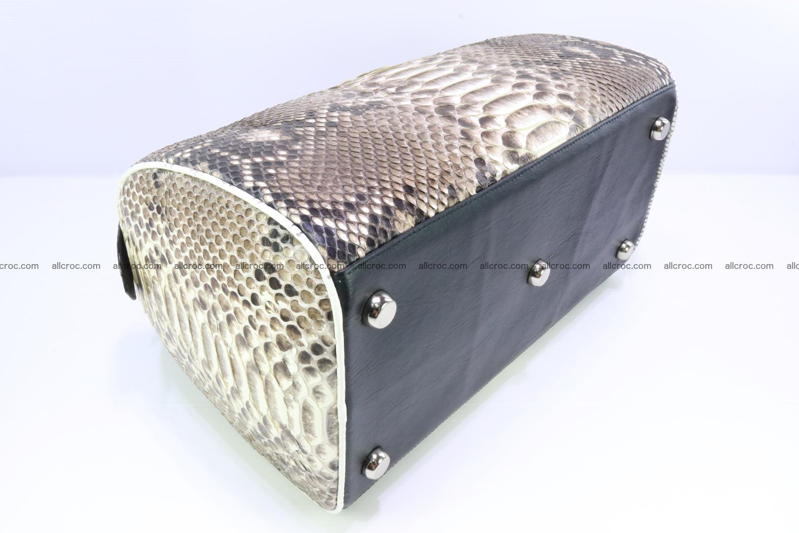 Ladies handbag, valise from genuine python skin 208 Foto 6
