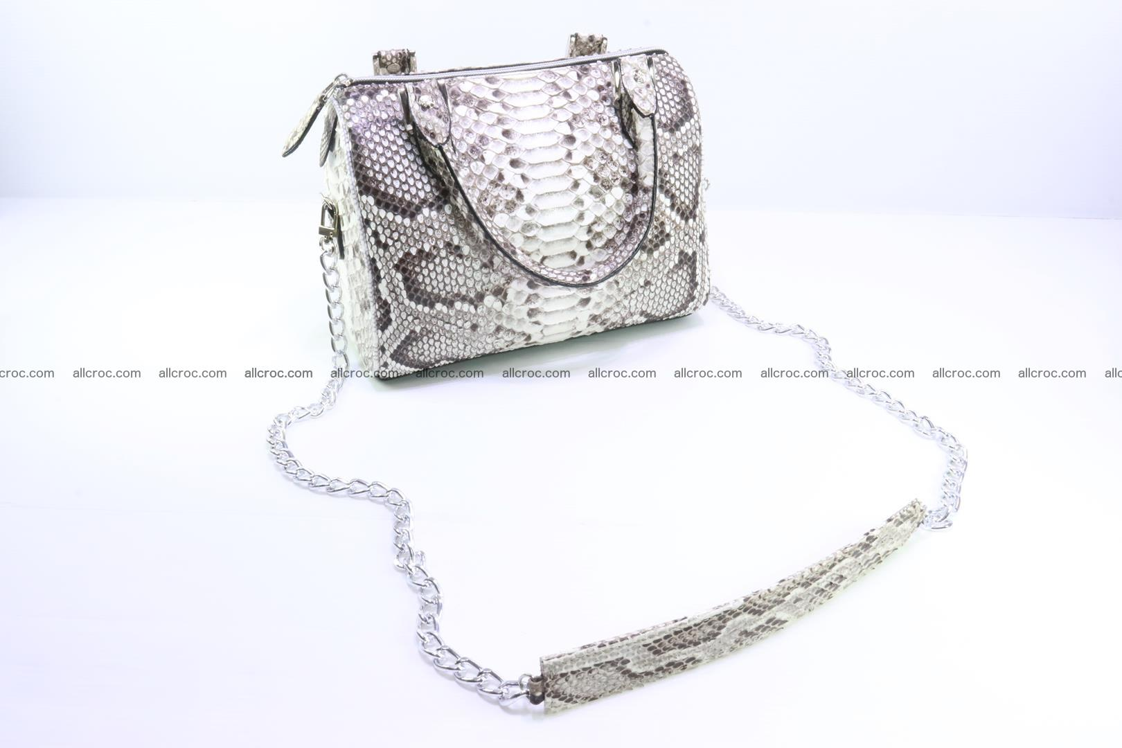 Ladies handbag, valise from genuine python skin MINI 209 Foto 5