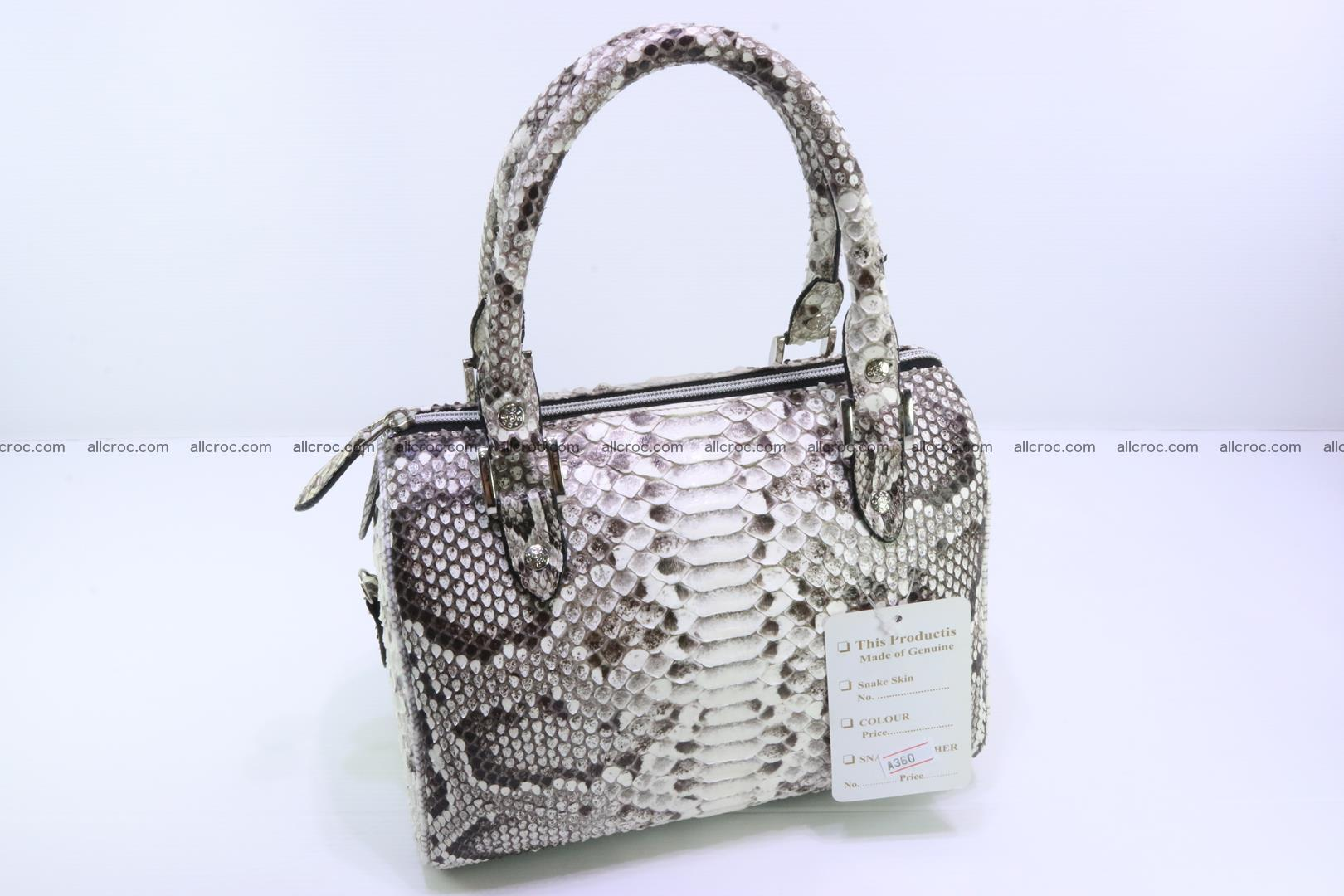 Ladies handbag, valise from genuine python skin MINI 210 Foto 1
