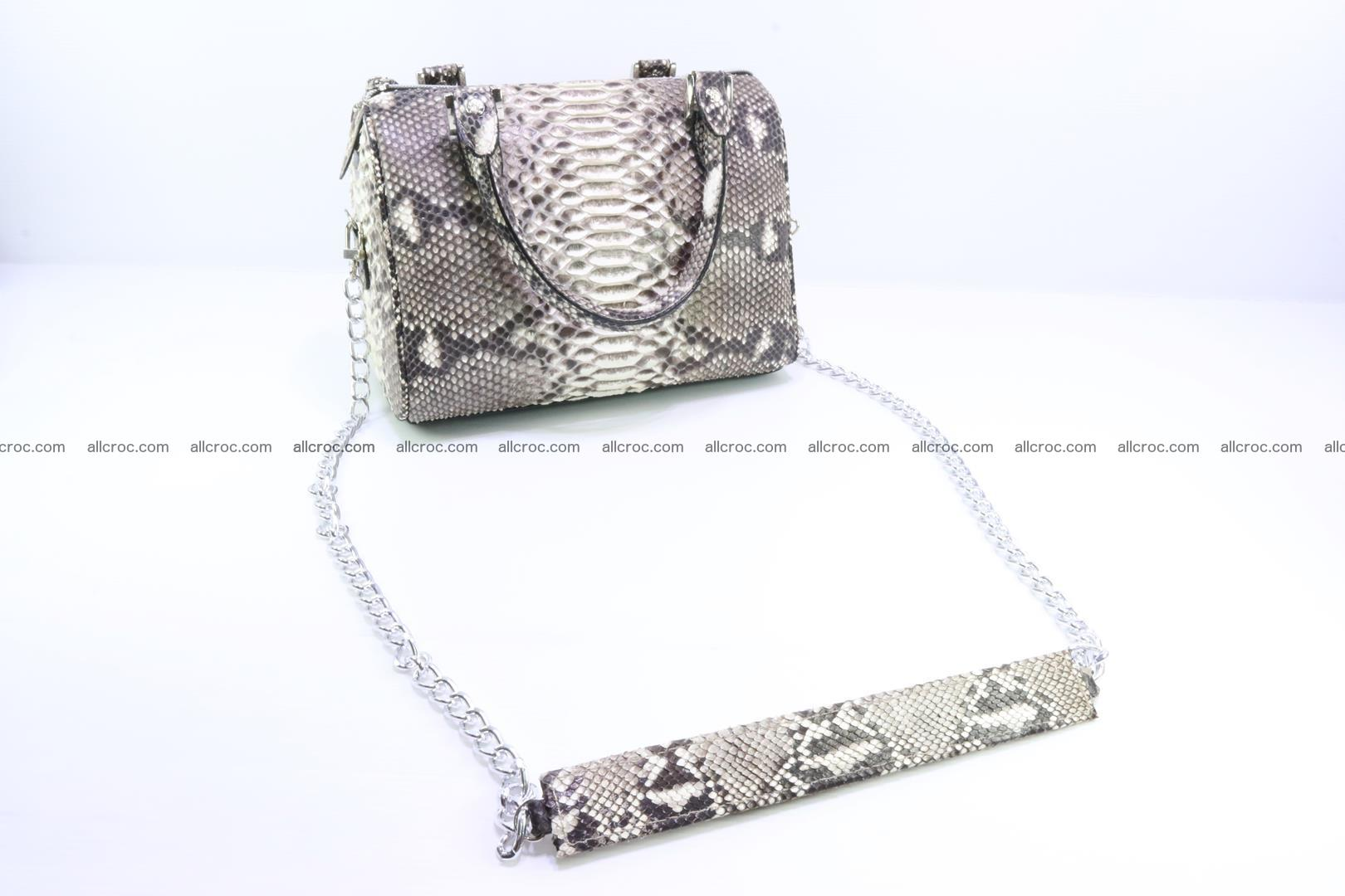 Ladies handbag, valise from genuine python skin MINI 210 Foto 6