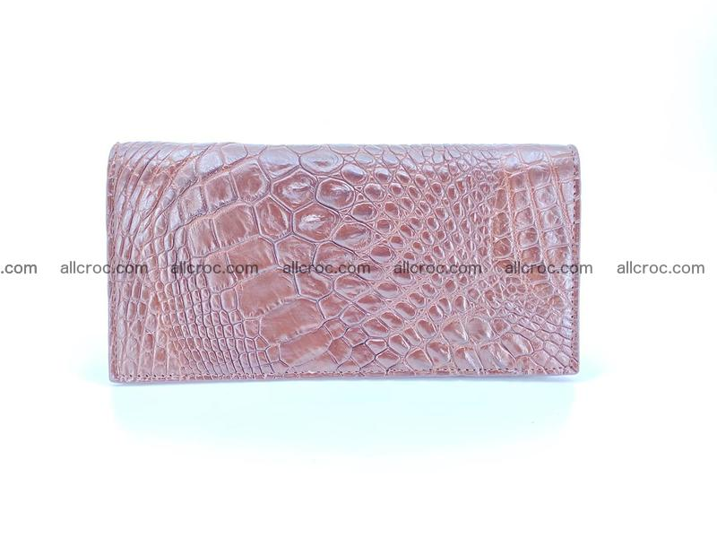 Long wallet bifold from Horn back of Siamese crocodile leather 490