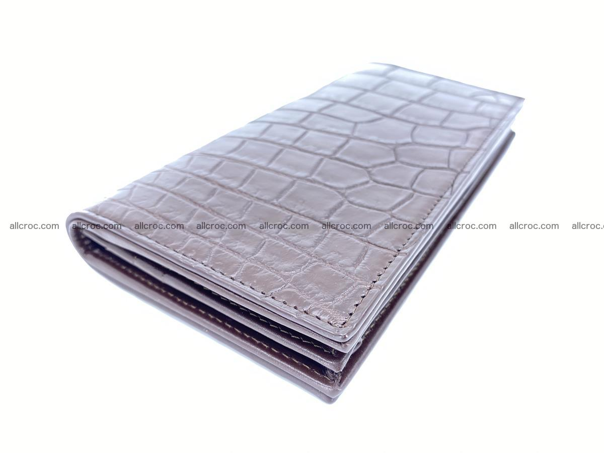 Long wallet bifold from Siamese crocodile skin 491 Foto 0