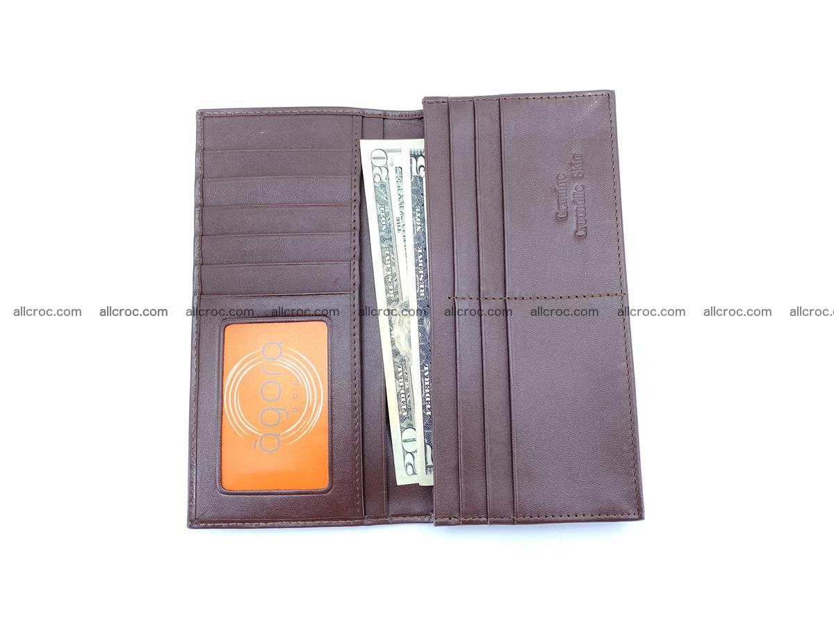 Long wallet bifold from Siamese crocodile skin 491 Foto 13