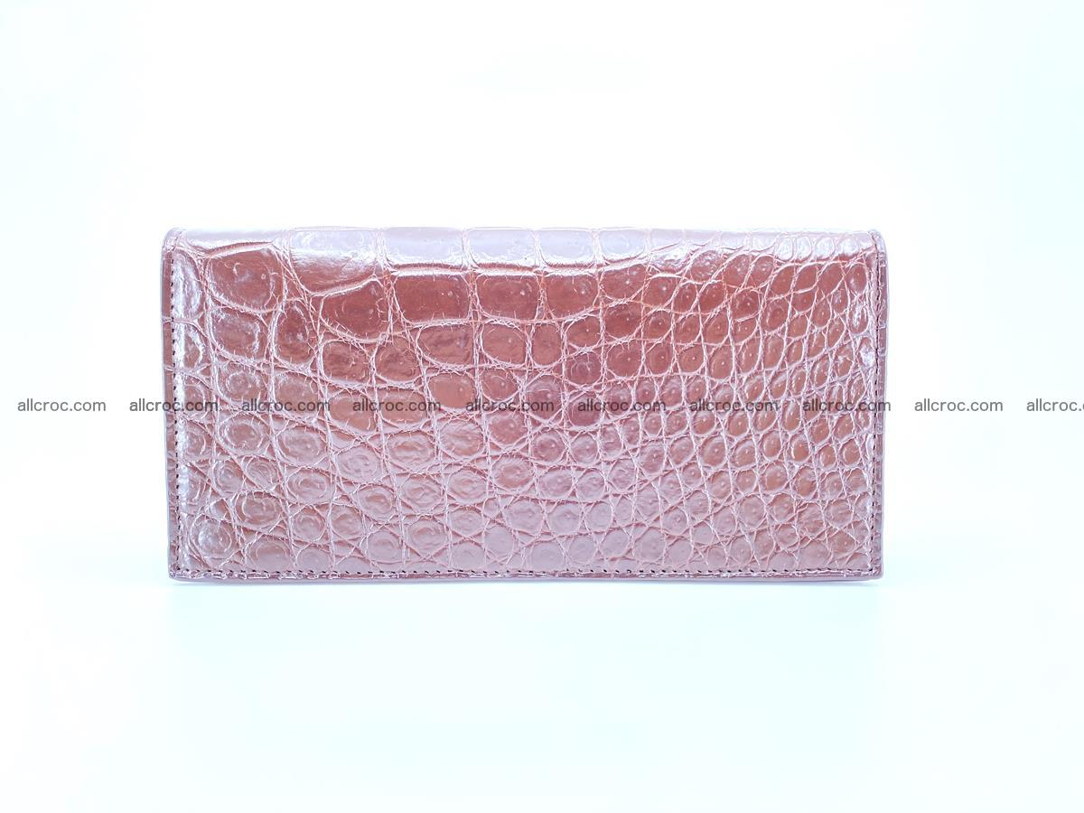 Long wallet bifold from Siamese crocodile skin 491 Foto 2