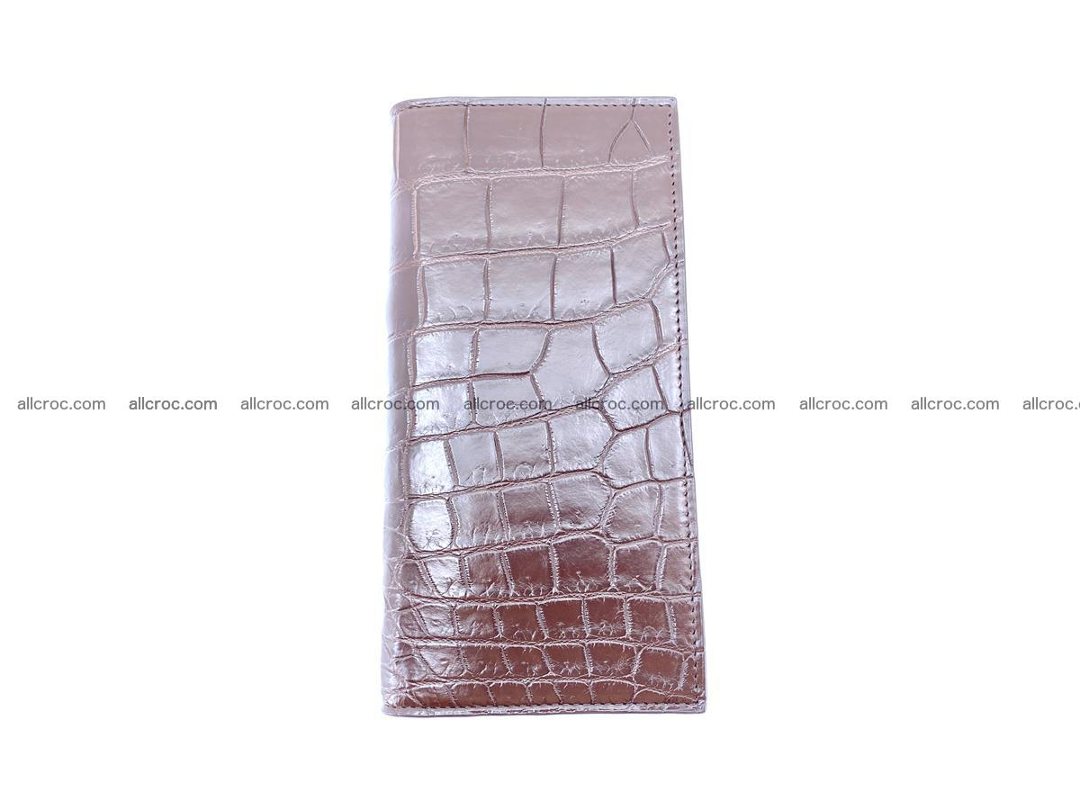 Long wallet bifold from Siamese crocodile skin 491 Foto 6