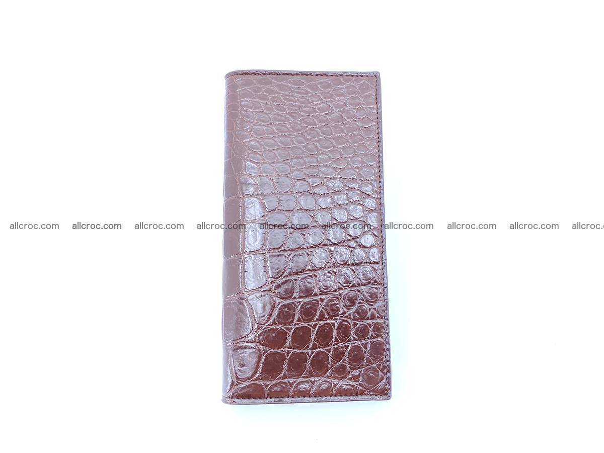 Long wallet bifold from Siamese crocodile skin 491 Foto 7