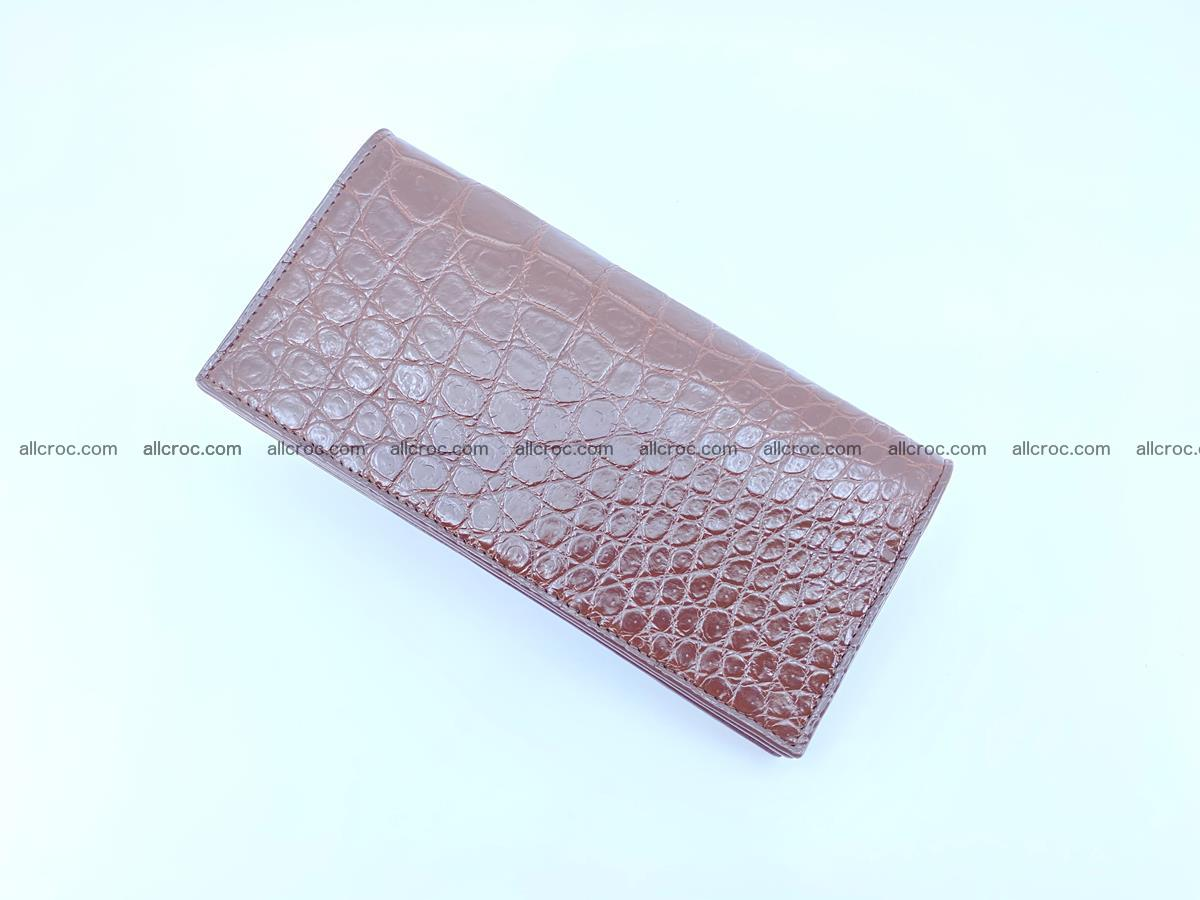 Long wallet bifold from Siamese crocodile skin 491 Foto 5