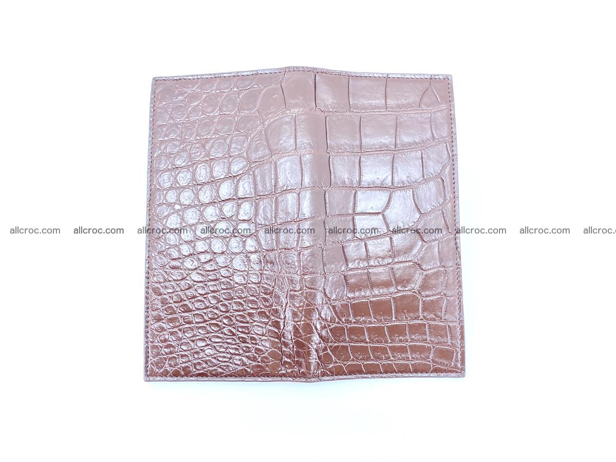 Long wallet bifold from Siamese crocodile skin 491 Foto 9