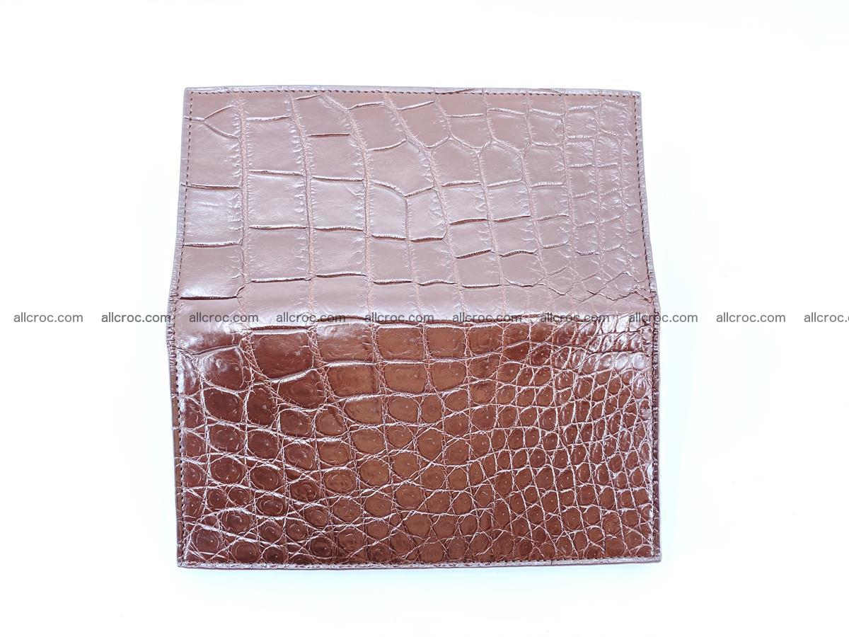 Long wallet bifold from Siamese crocodile skin 491 Foto 10