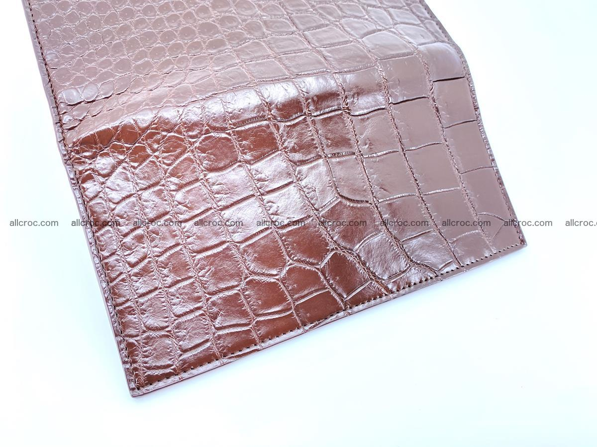 Long wallet bifold from Siamese crocodile skin 491 Foto 11