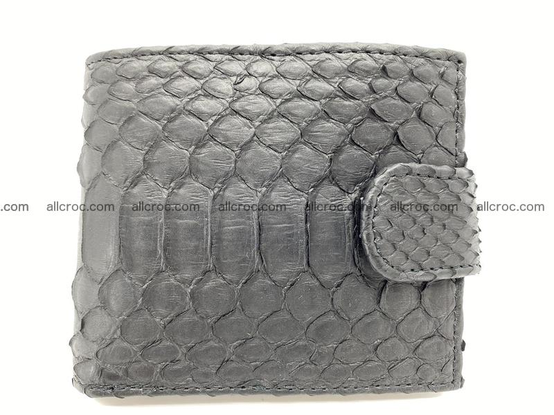 Python skin bifold wallet with coins pocket 881