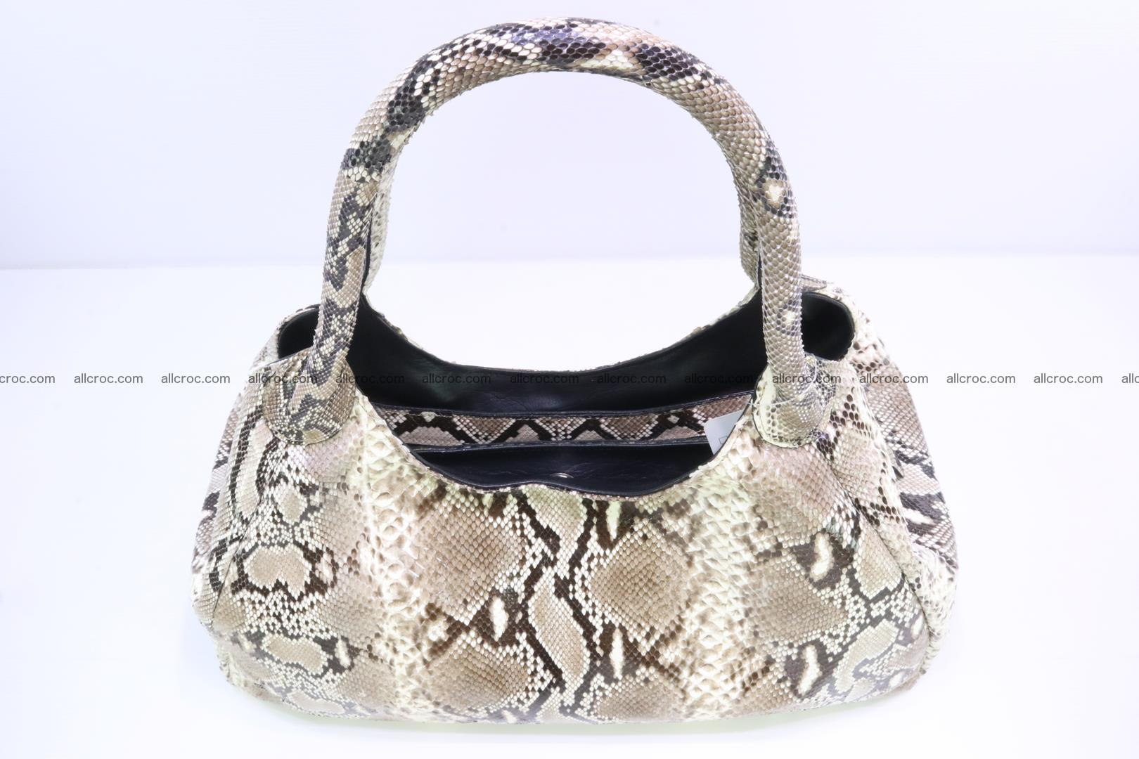 Python skin handbag for lady from genuine Python skin 197 Foto 4