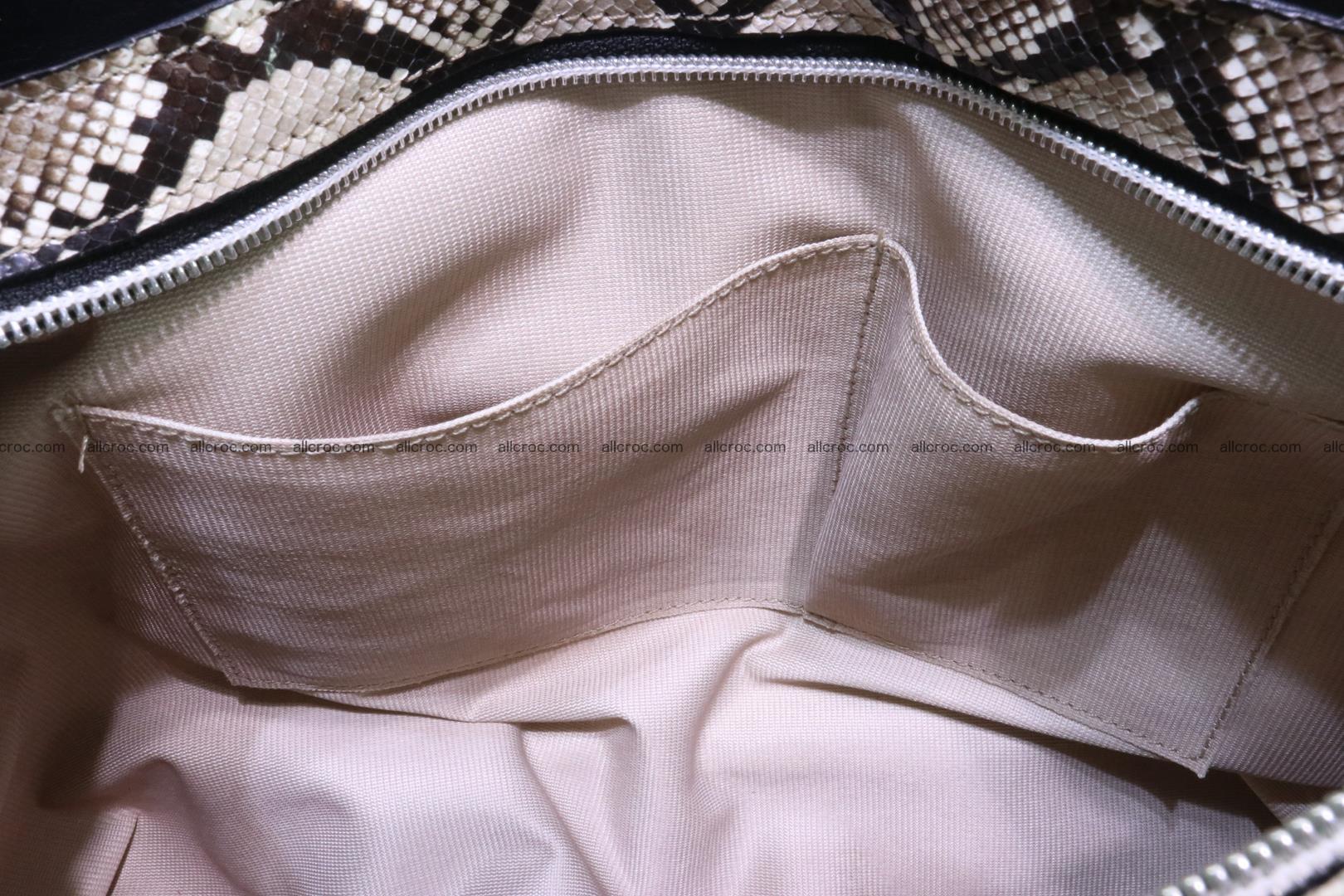Python skin handbag for lady from genuine Python skin 197 Foto 11