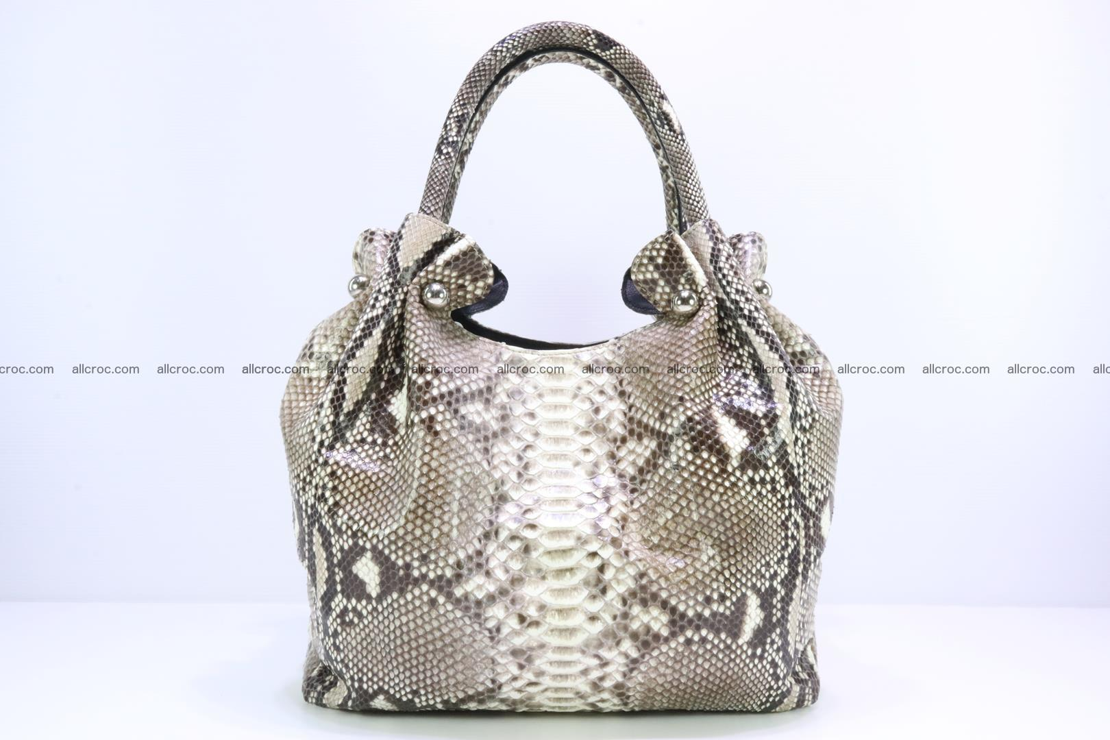 Python skin handbag for lady from genuine Python skin 198 Foto 0