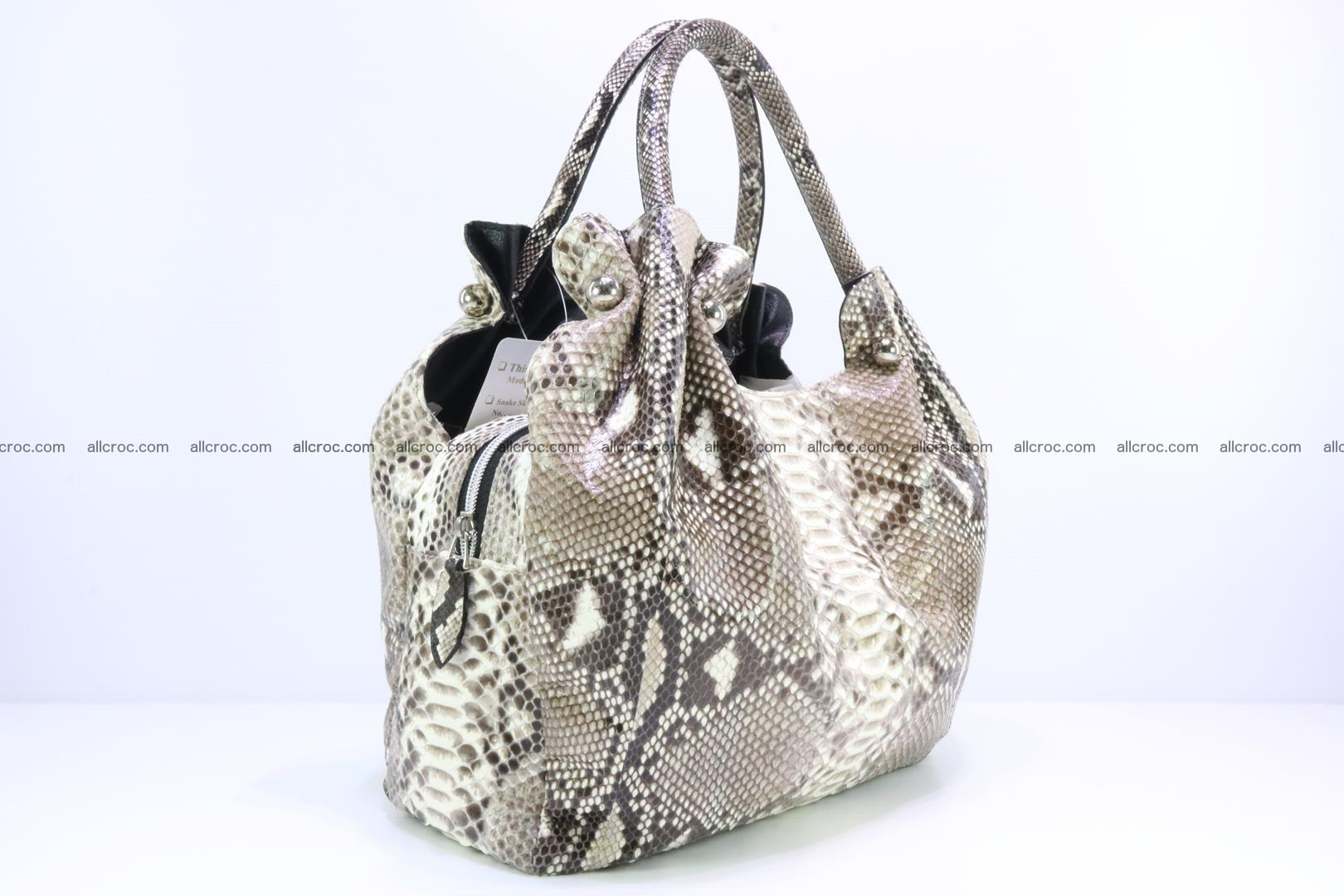 Python skin handbag for lady from genuine Python skin 198 Foto 1