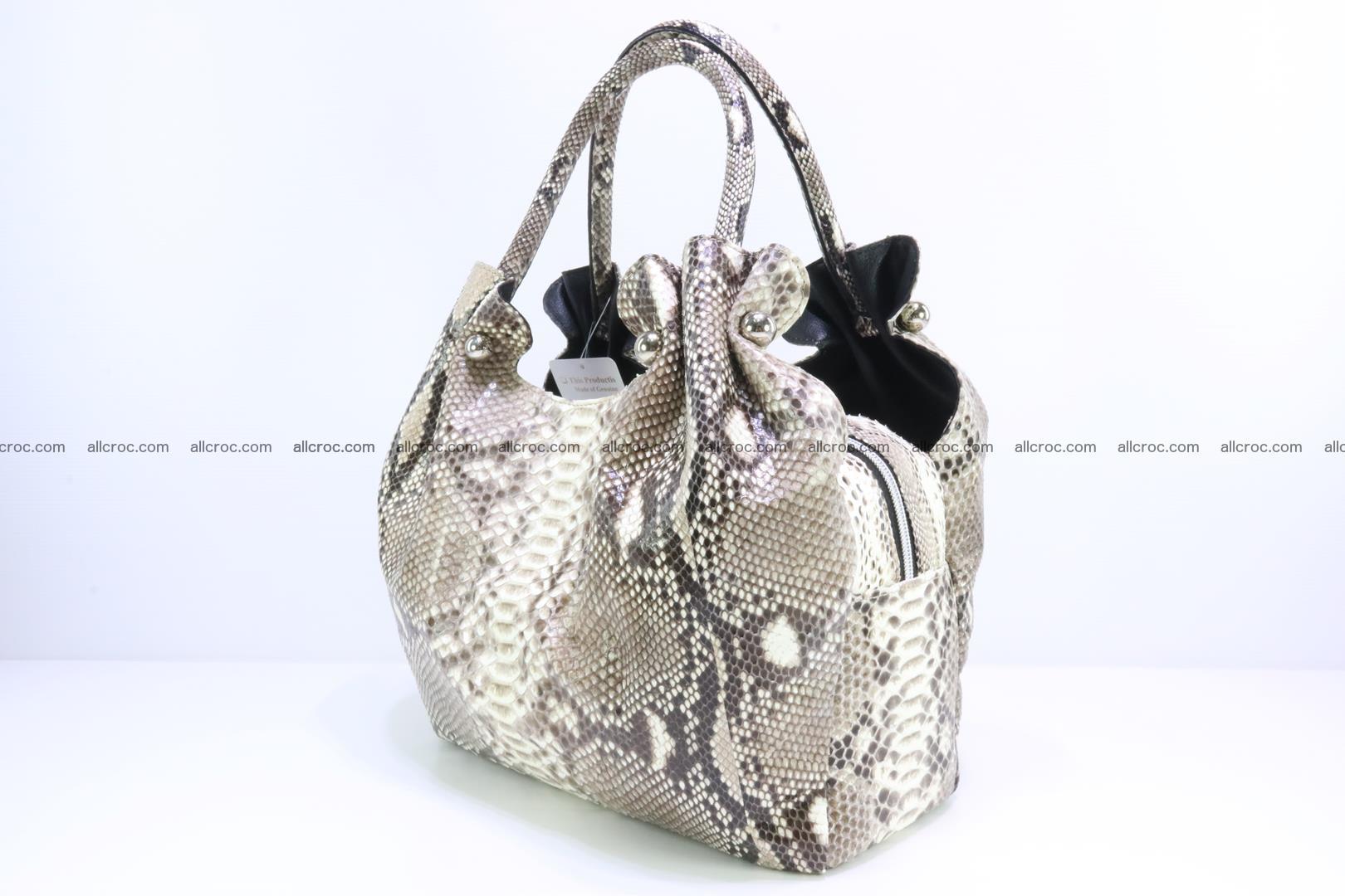 Python skin handbag for lady from genuine Python skin 198 Foto 2