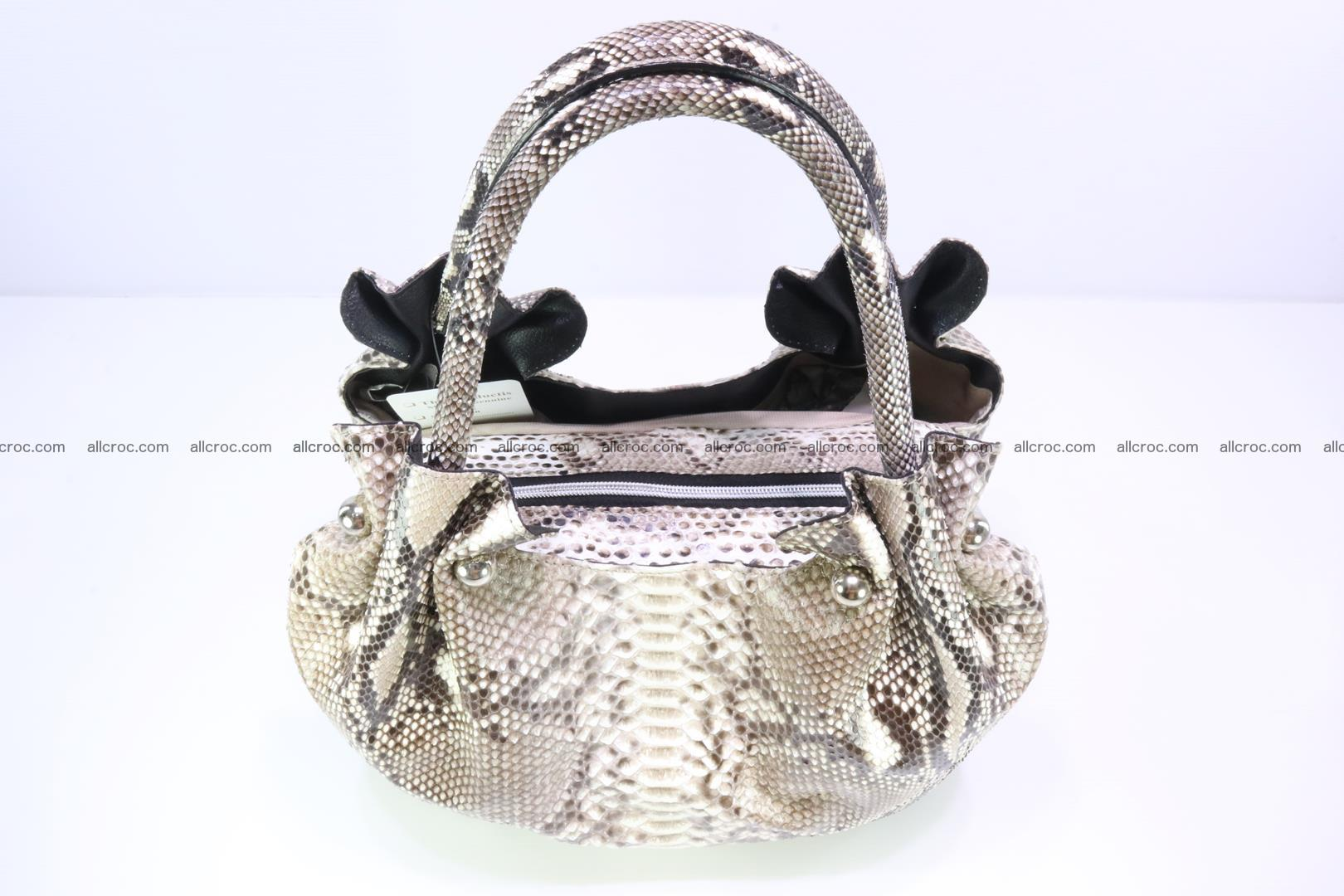 Python skin handbag for lady from genuine Python skin 198 Foto 4