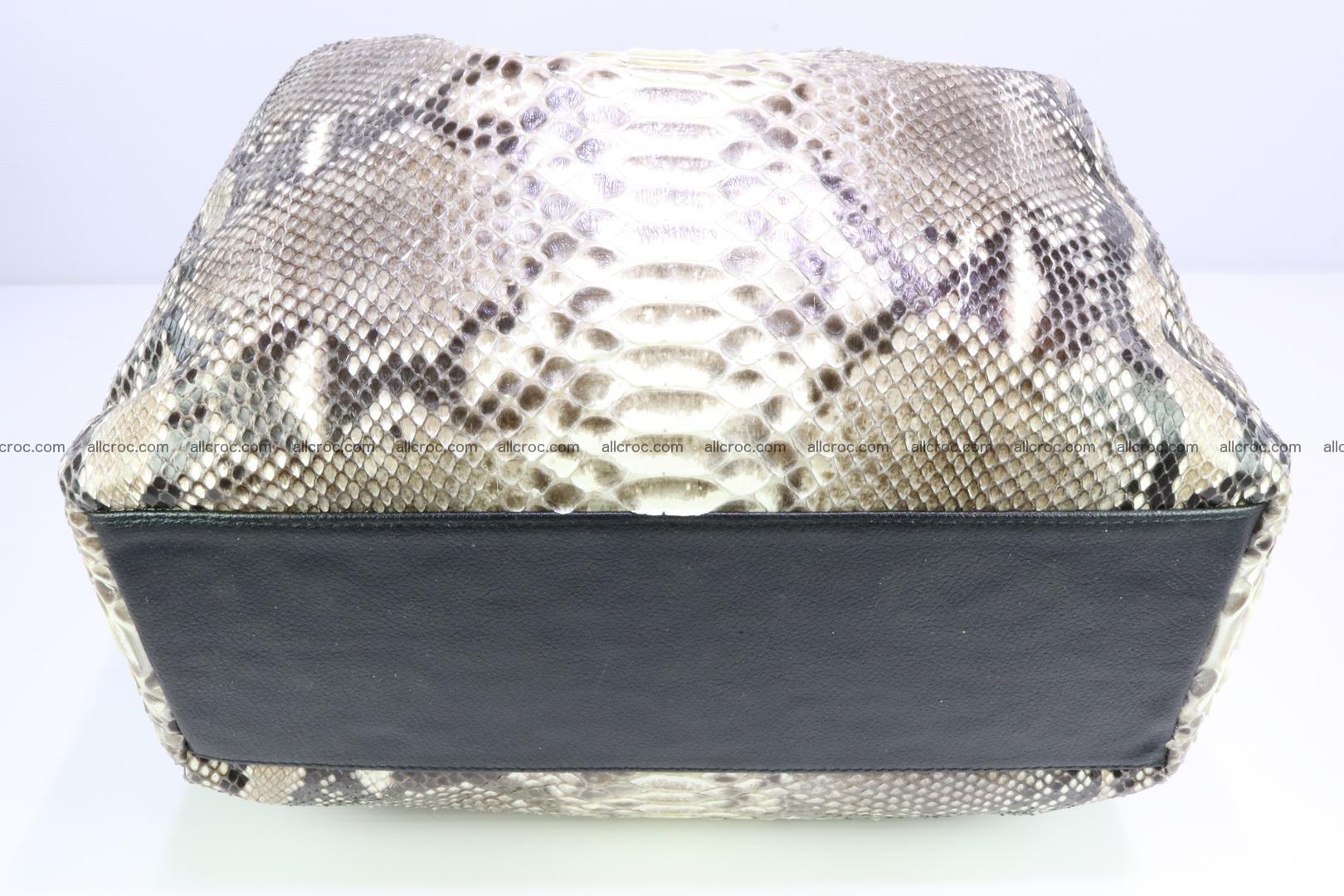 Python skin handbag for lady from genuine Python skin 198 Foto 5
