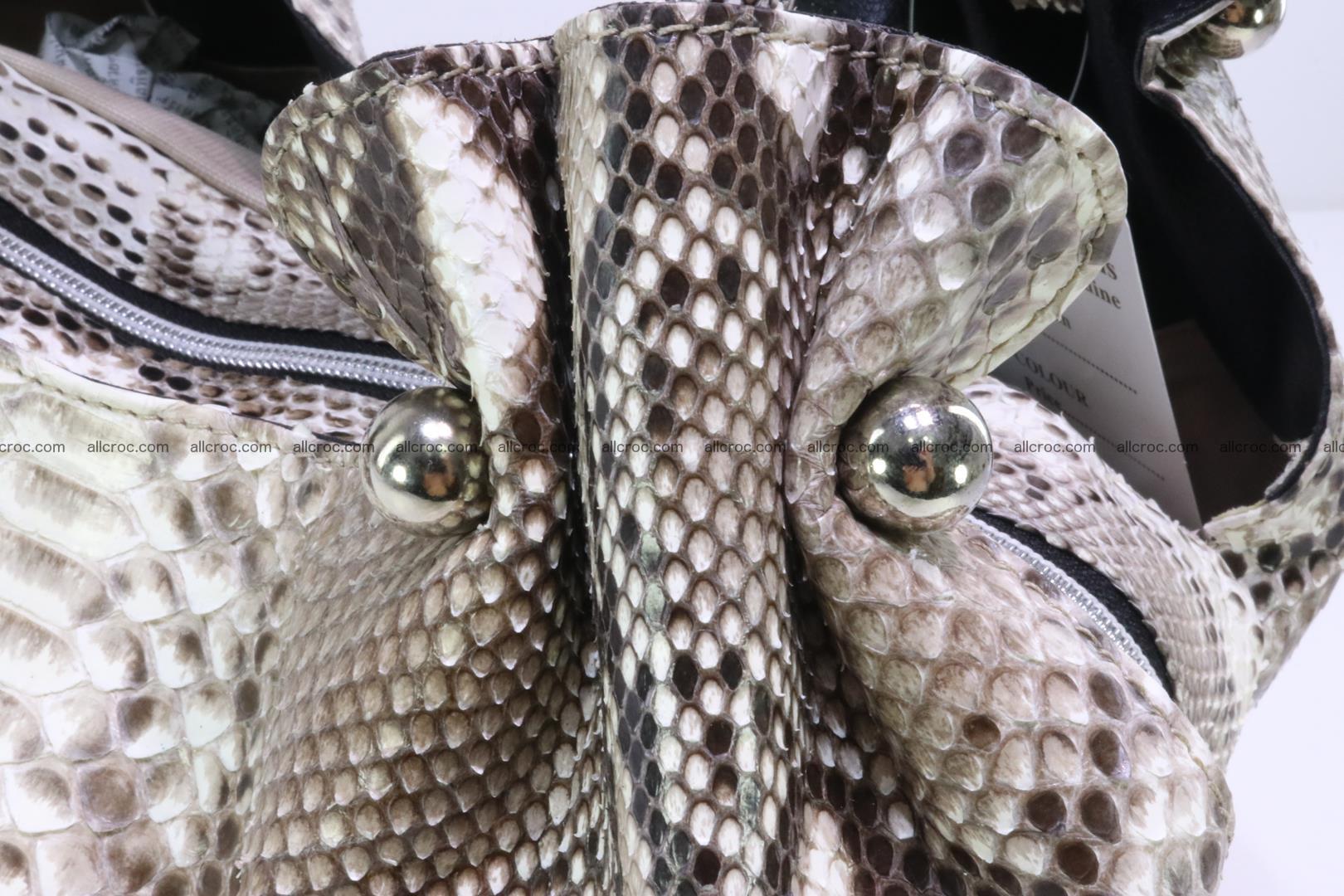 Python skin handbag for lady from genuine Python skin 198 Foto 9