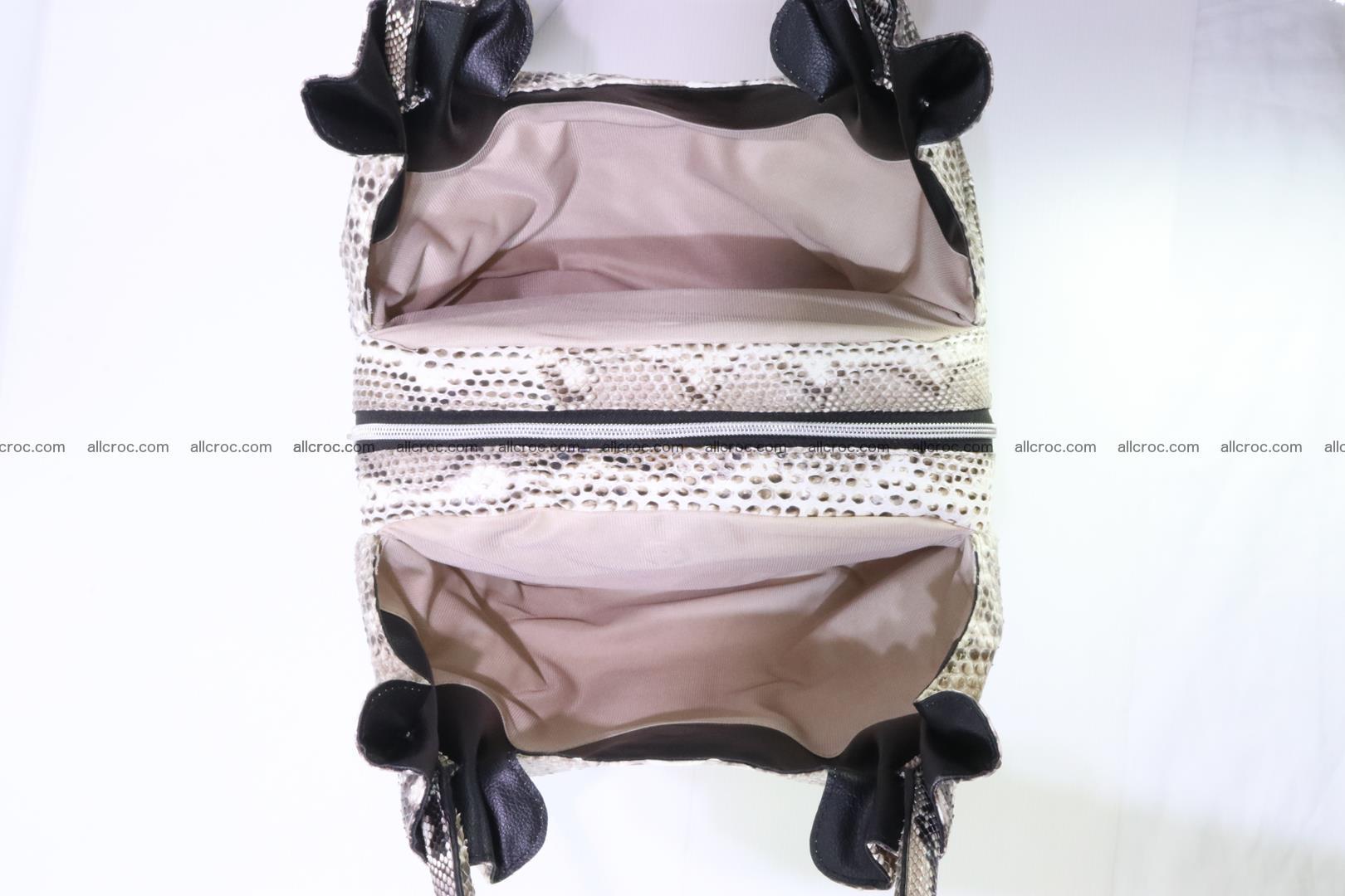 Python skin handbag for lady from genuine Python skin 198 Foto 10