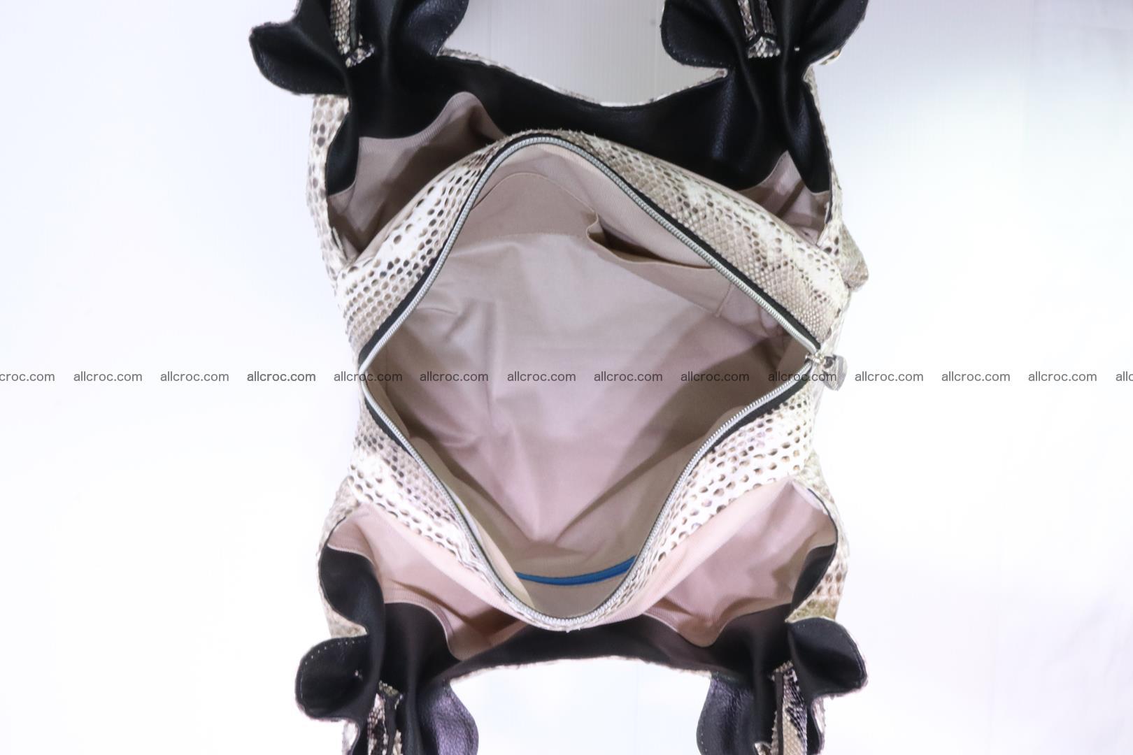 Python skin handbag for lady from genuine Python skin 198 Foto 11