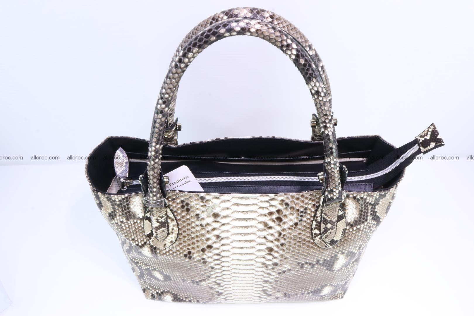 Python skin handbag for lady from genuine Python skin 205 Foto 4
