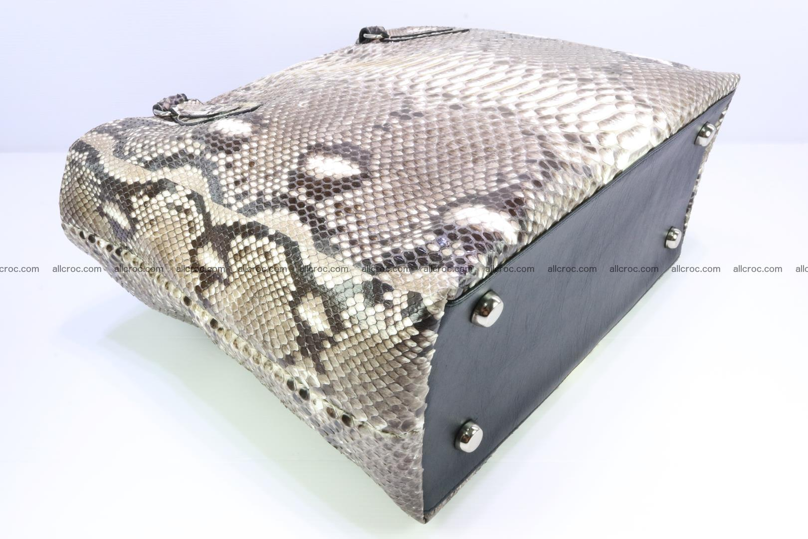 Python skin handbag for lady from genuine Python skin 205 Foto 7