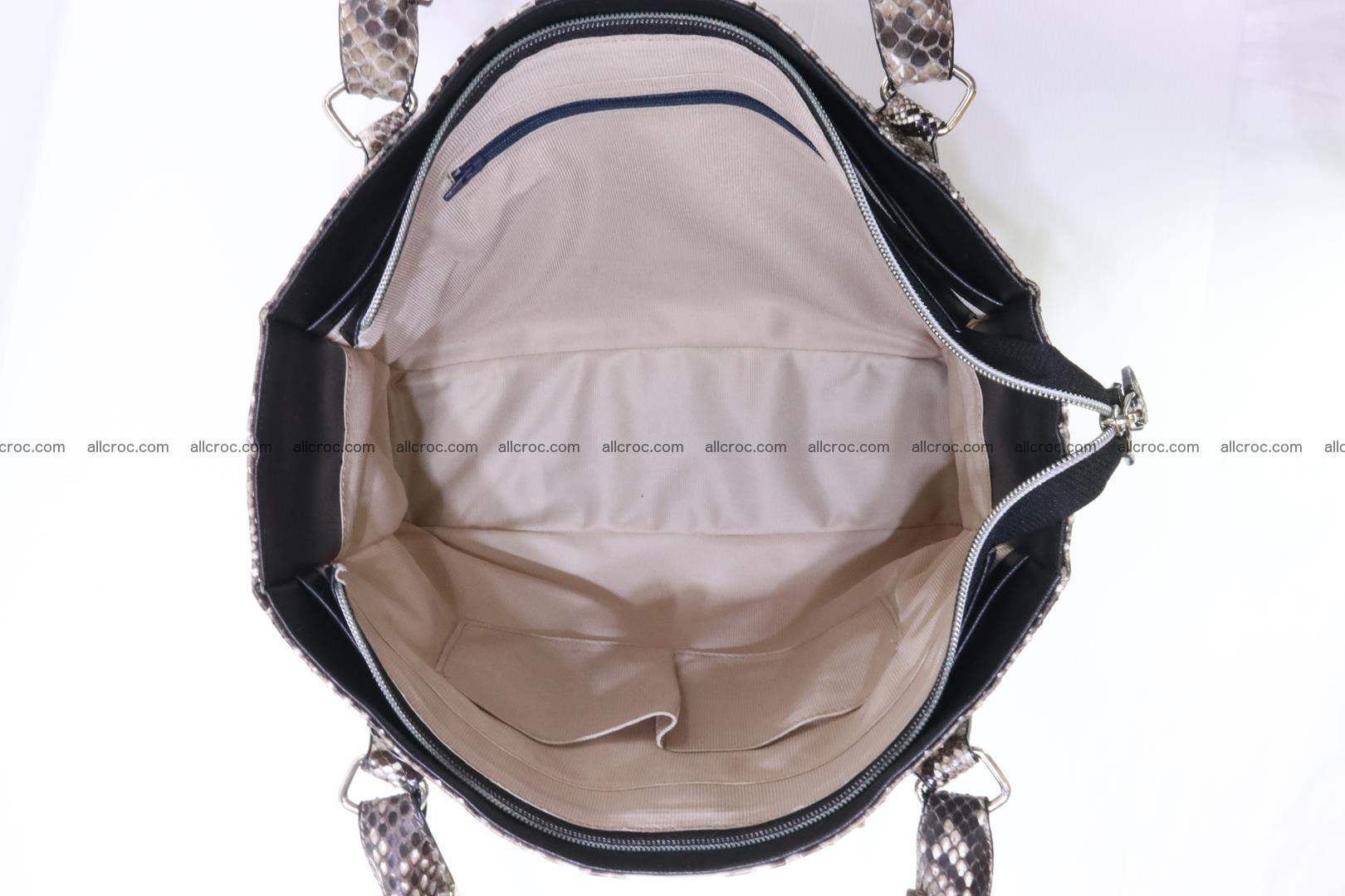 Python skin handbag for lady from genuine Python skin 206 Foto 10