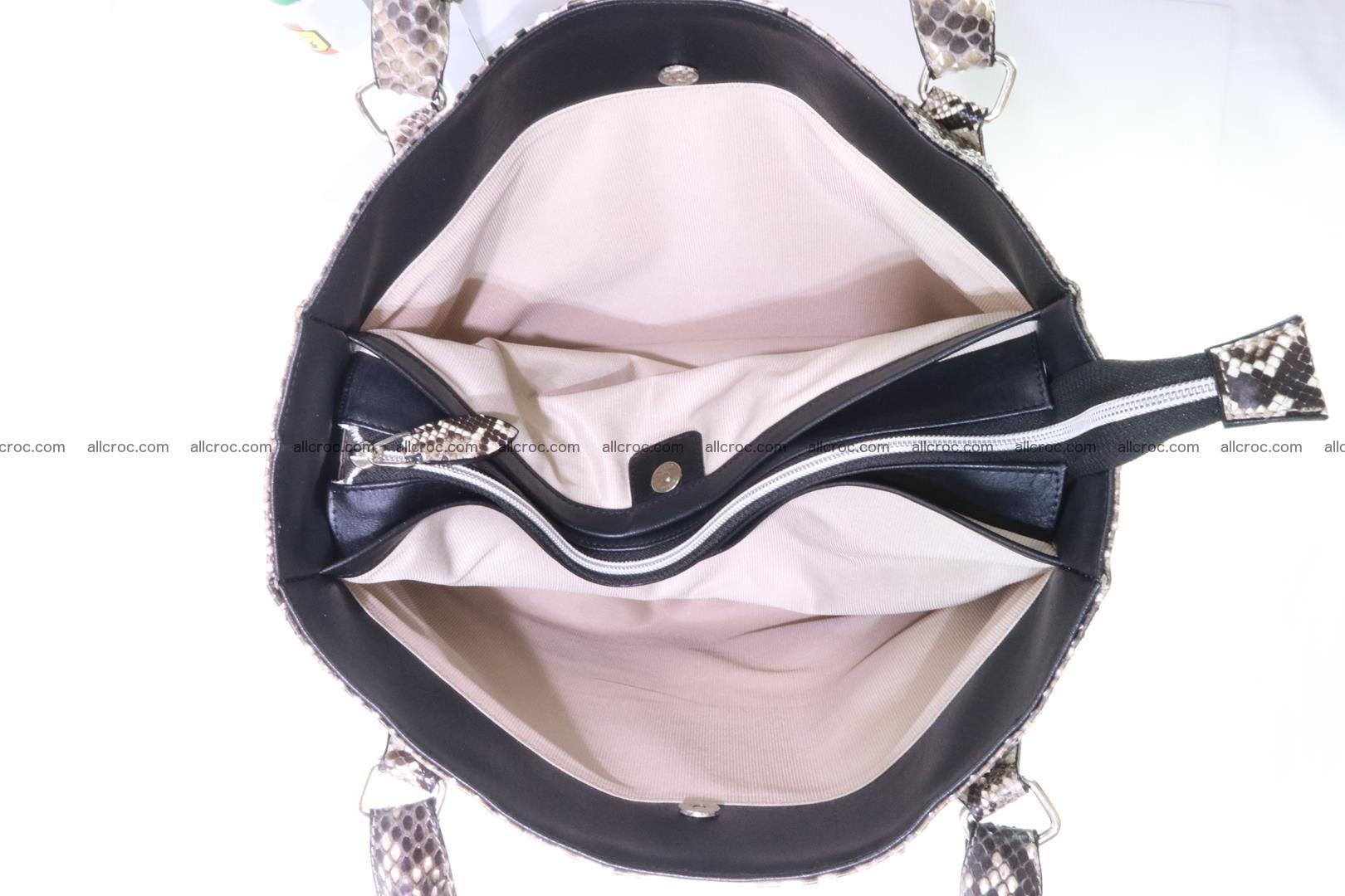 Python skin handbag for lady from genuine Python skin 206 Foto 9