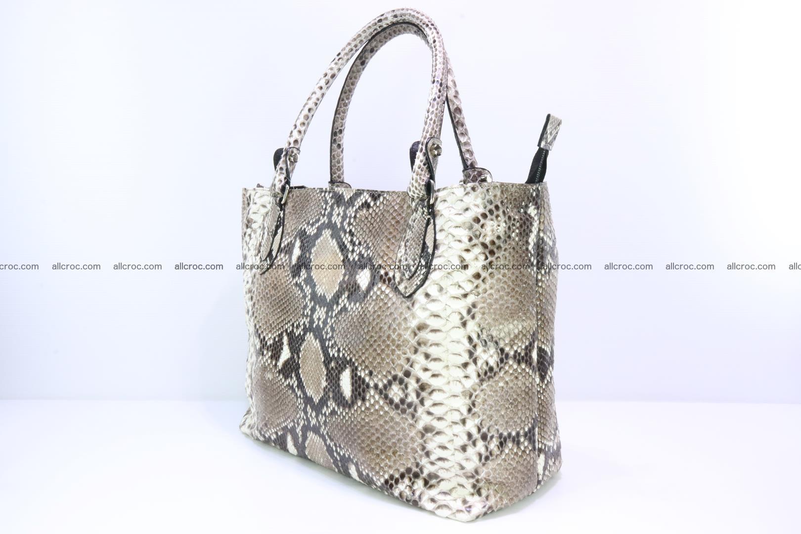 Python skin handbag for lady from genuine Python skin 206 Foto 2