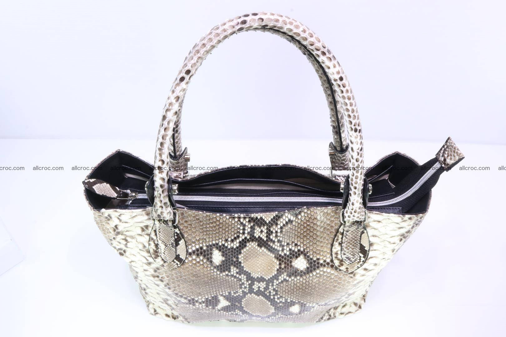 Python skin handbag for lady from genuine Python skin 206 Foto 4