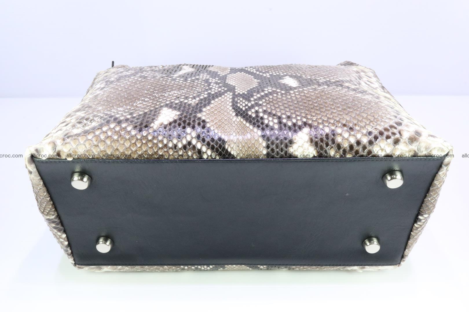 Python skin handbag for lady from genuine Python skin 206 Foto 5