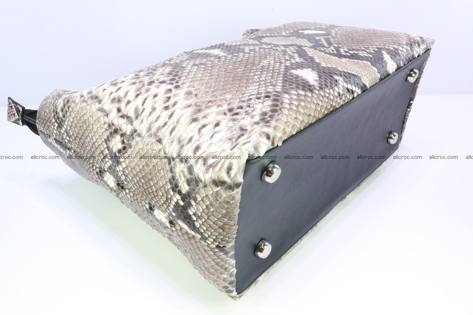 Python skin handbag for lady from genuine Python skin 206 Foto 7