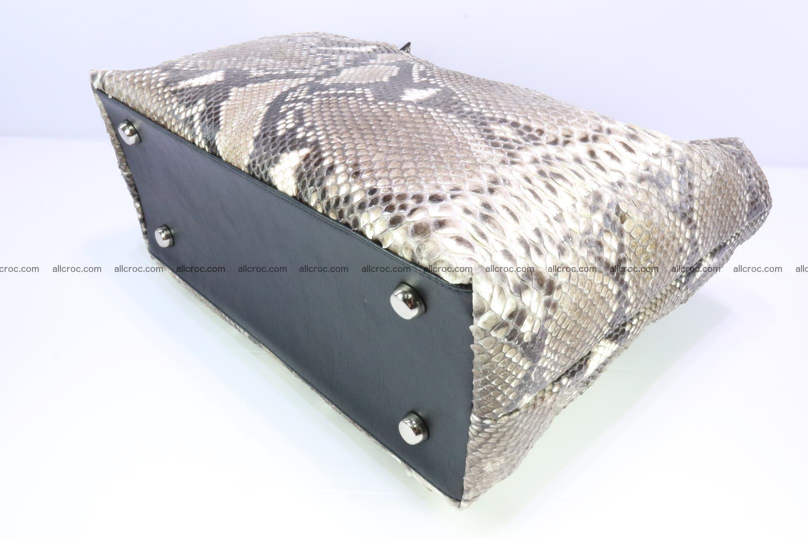 Python skin handbag for lady from genuine Python skin 206 Foto 8