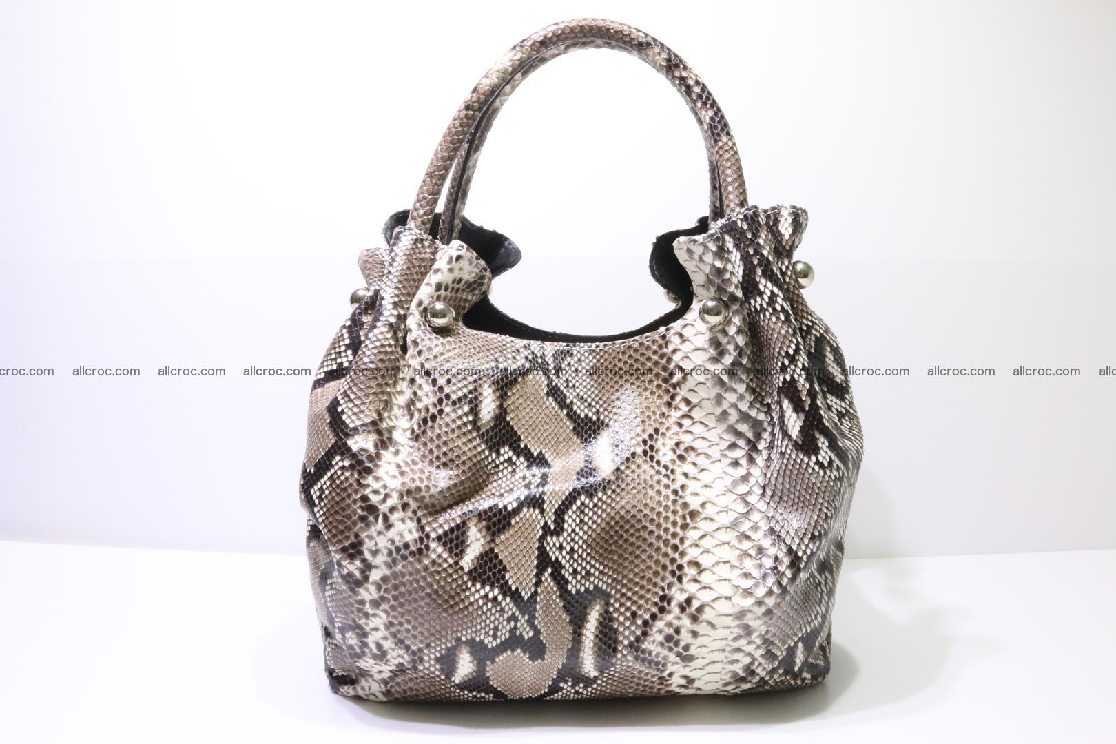 Python skin handbag for lady from genuine Python skin 202 Foto 0