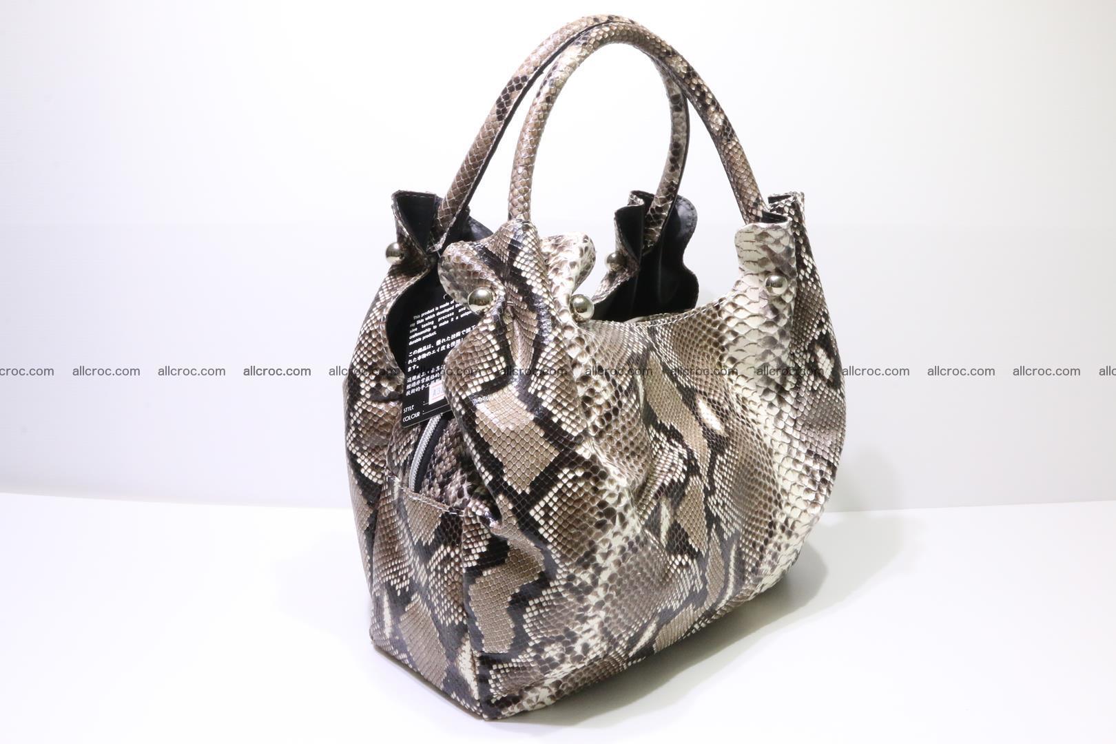 Python skin handbag for lady from genuine Python skin 202 Foto 1
