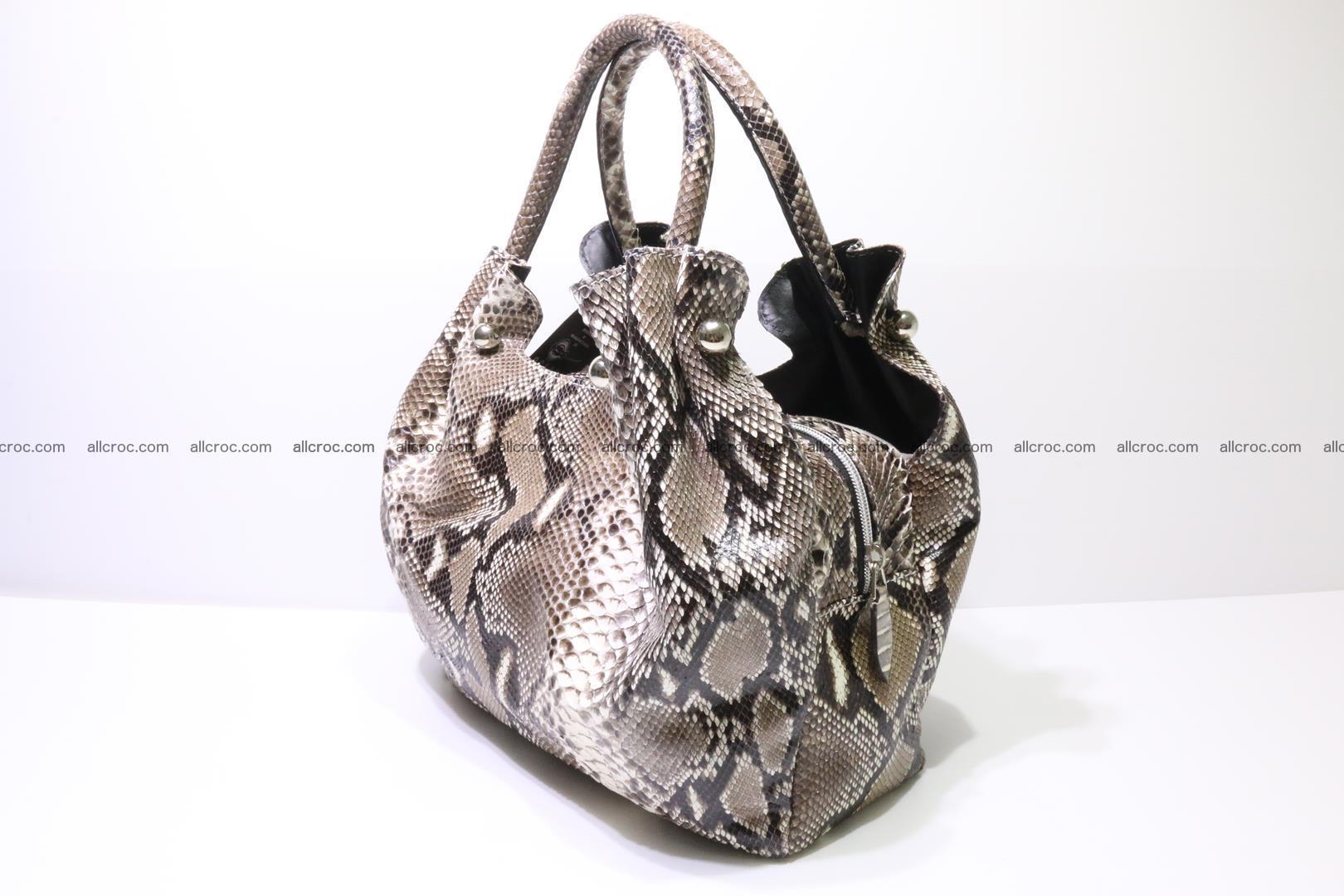 Python skin handbag for lady from genuine Python skin 202 Foto 2