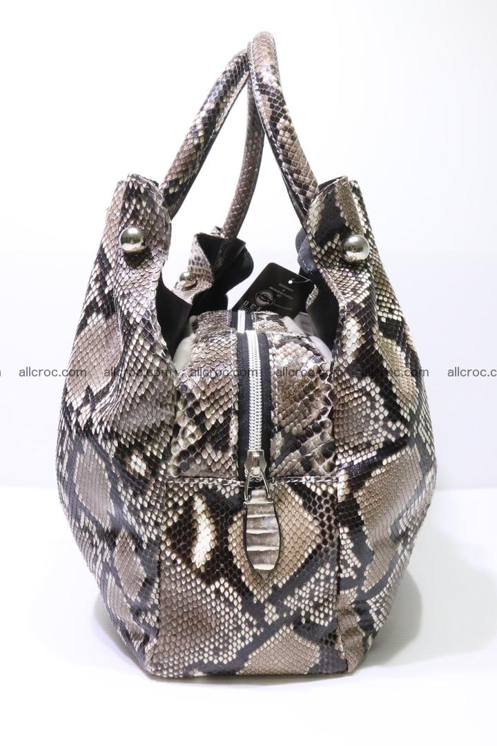 Python skin handbag for lady from genuine Python skin 202 Foto 3