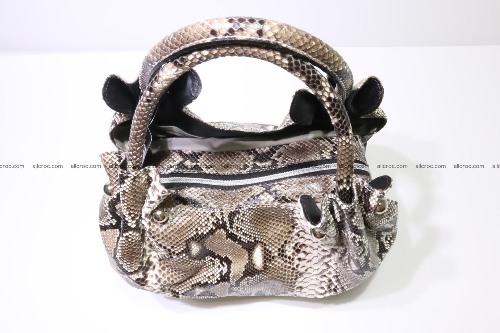 Python skin handbag for lady from genuine Python skin 202 Foto 4