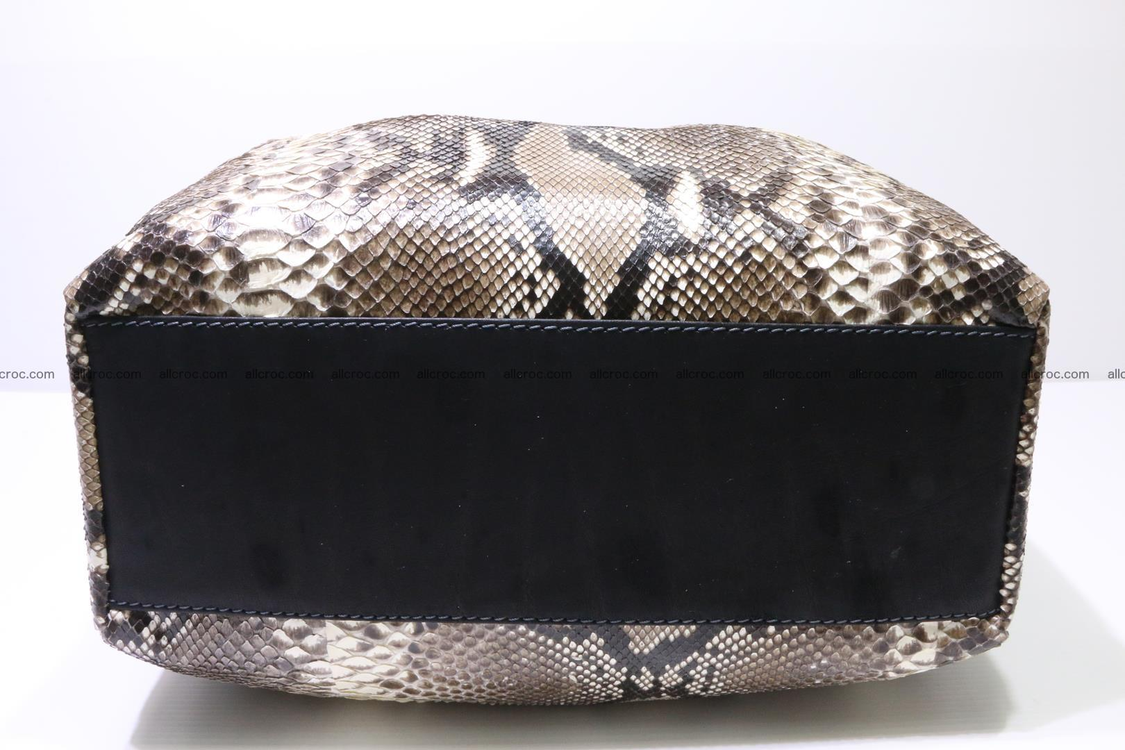 Python skin handbag for lady from genuine Python skin 202 Foto 6