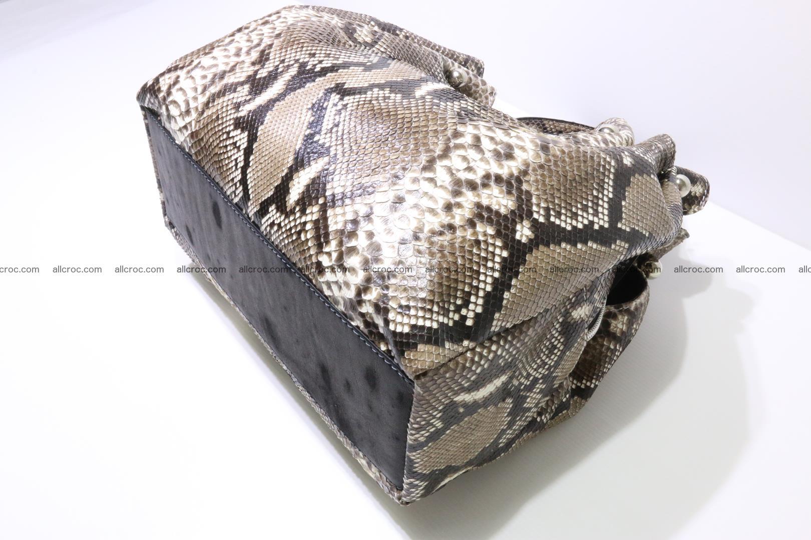 Python skin handbag for lady from genuine Python skin 202 Foto 8