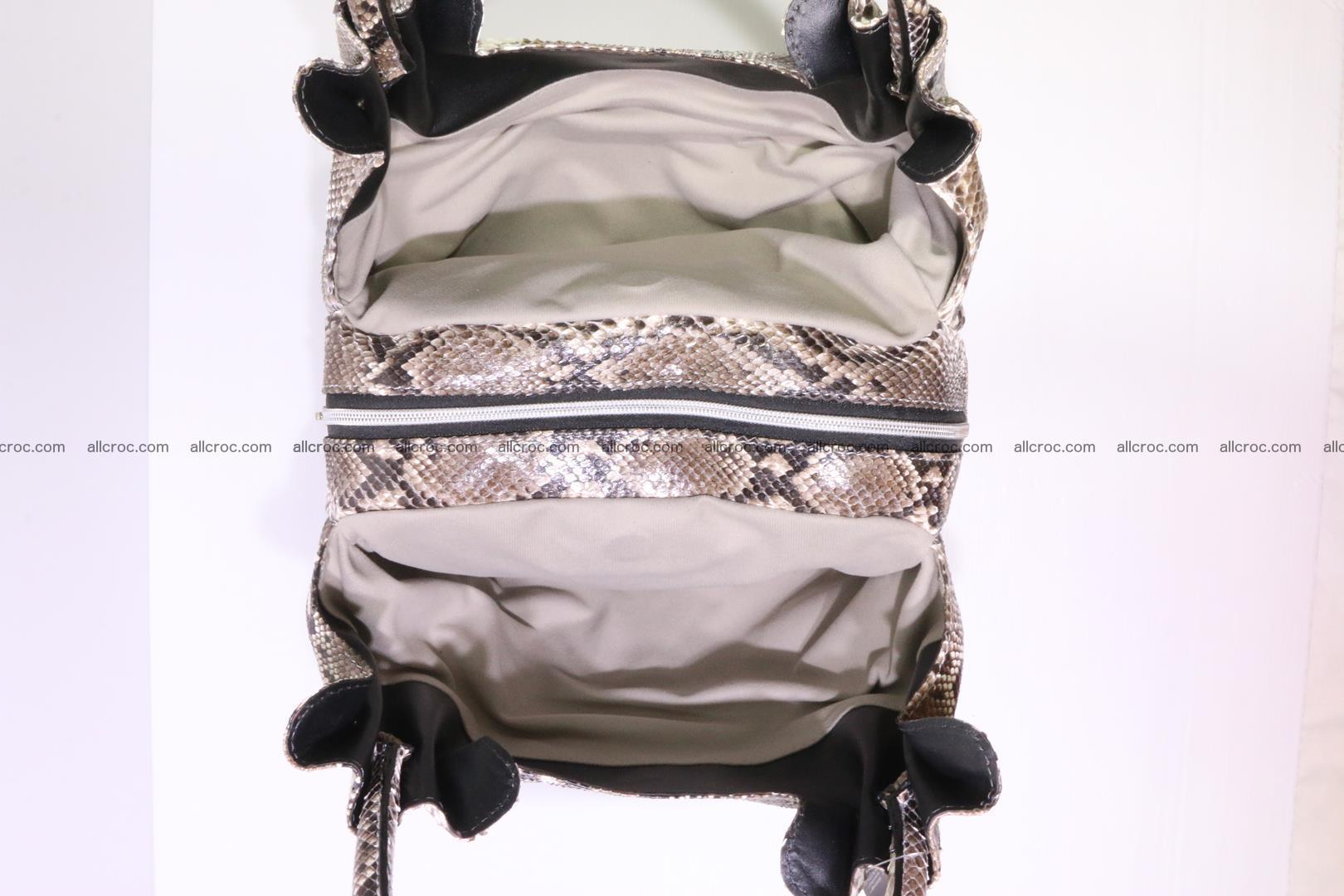 Python skin handbag for lady from genuine Python skin 202 Foto 9