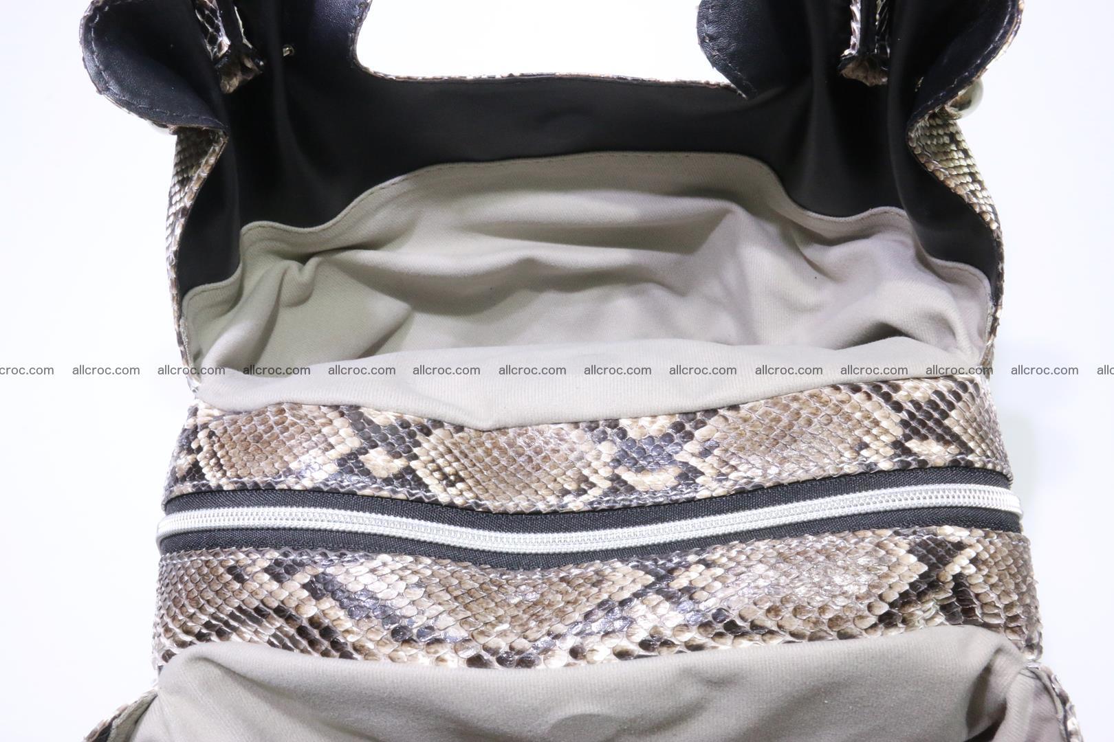 Python skin handbag for lady from genuine Python skin 202 Foto 12