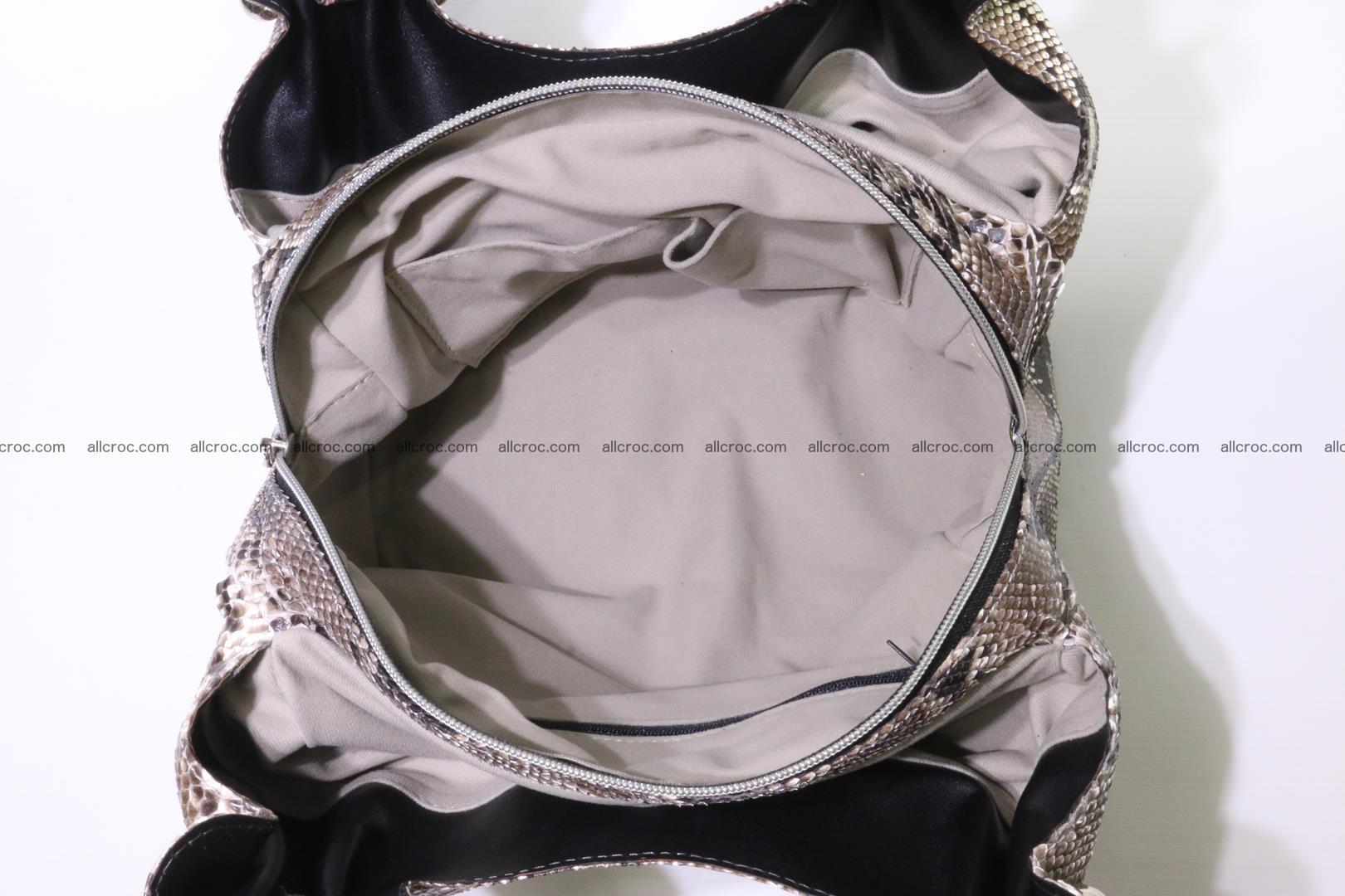 Python skin handbag for lady from genuine Python skin 202 Foto 10