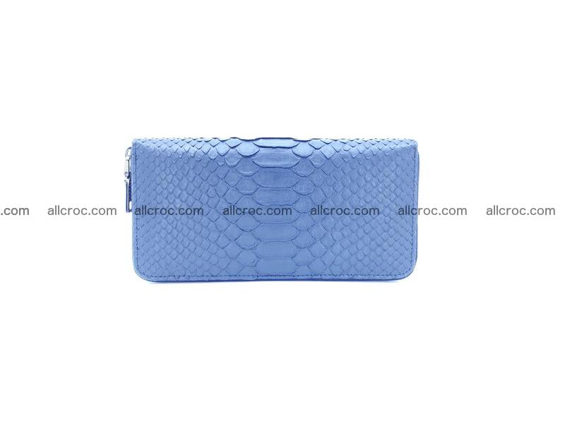 Python skin wallet with zip 882
